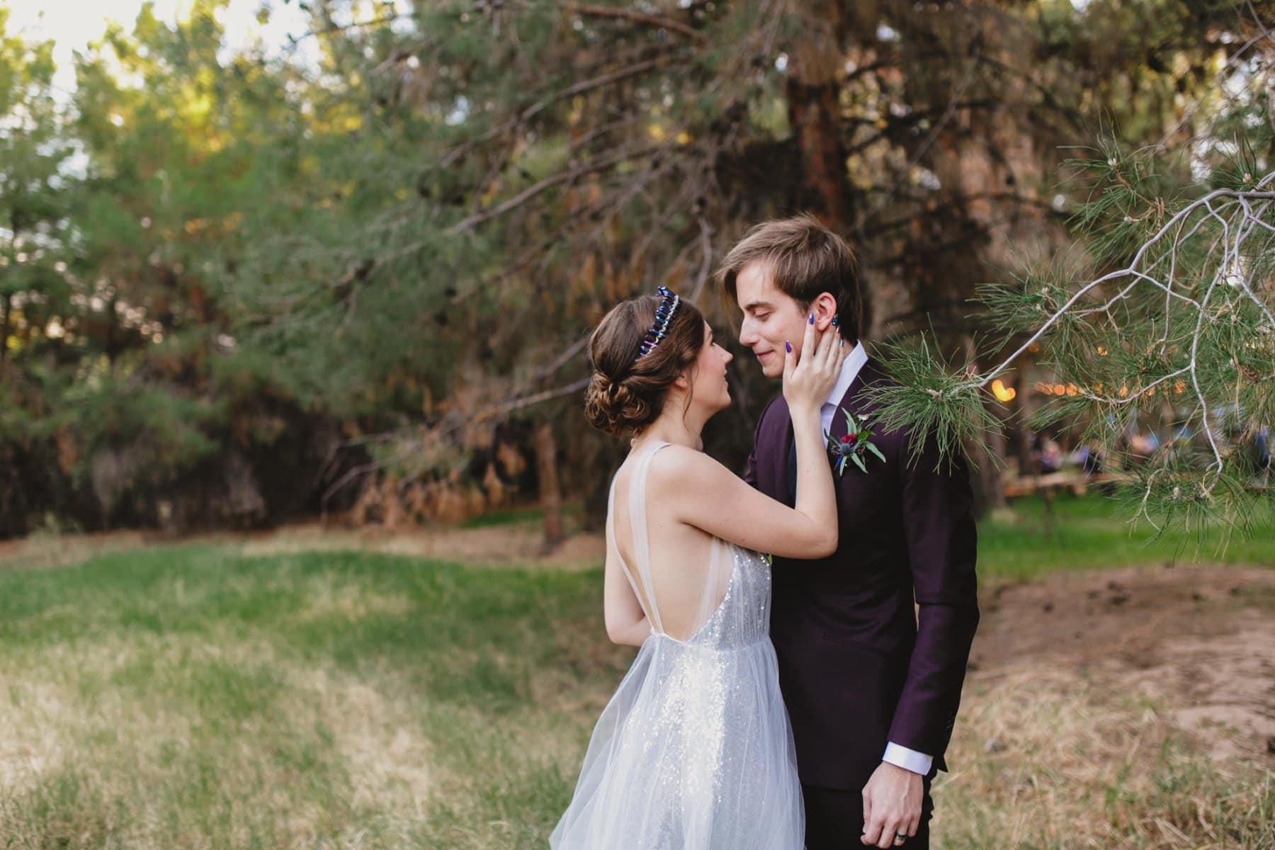 forest wedding in Phoenix venue Schnepf Farms the Meadow location