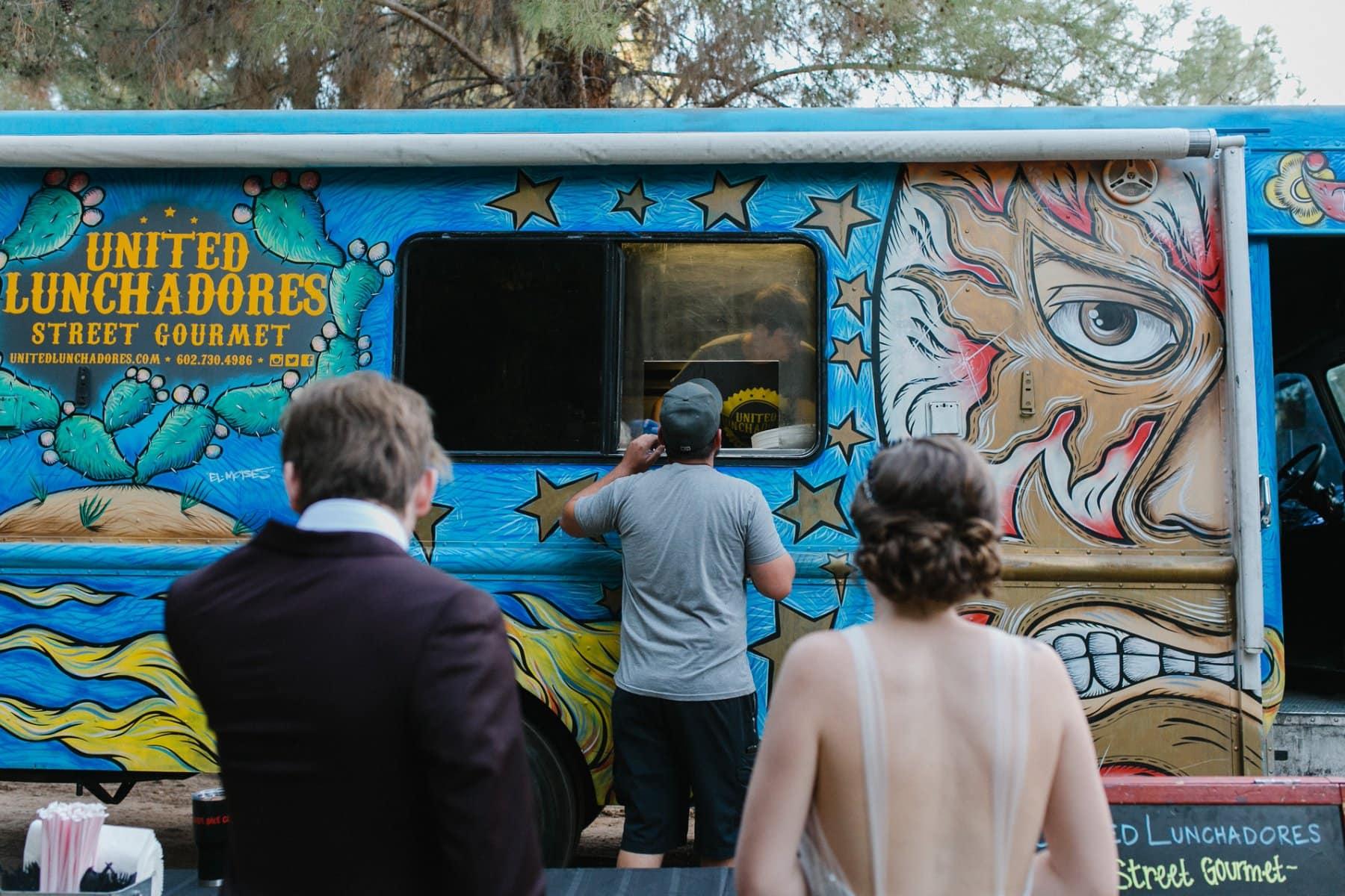 Food truck at wedding Schnepf Farms
