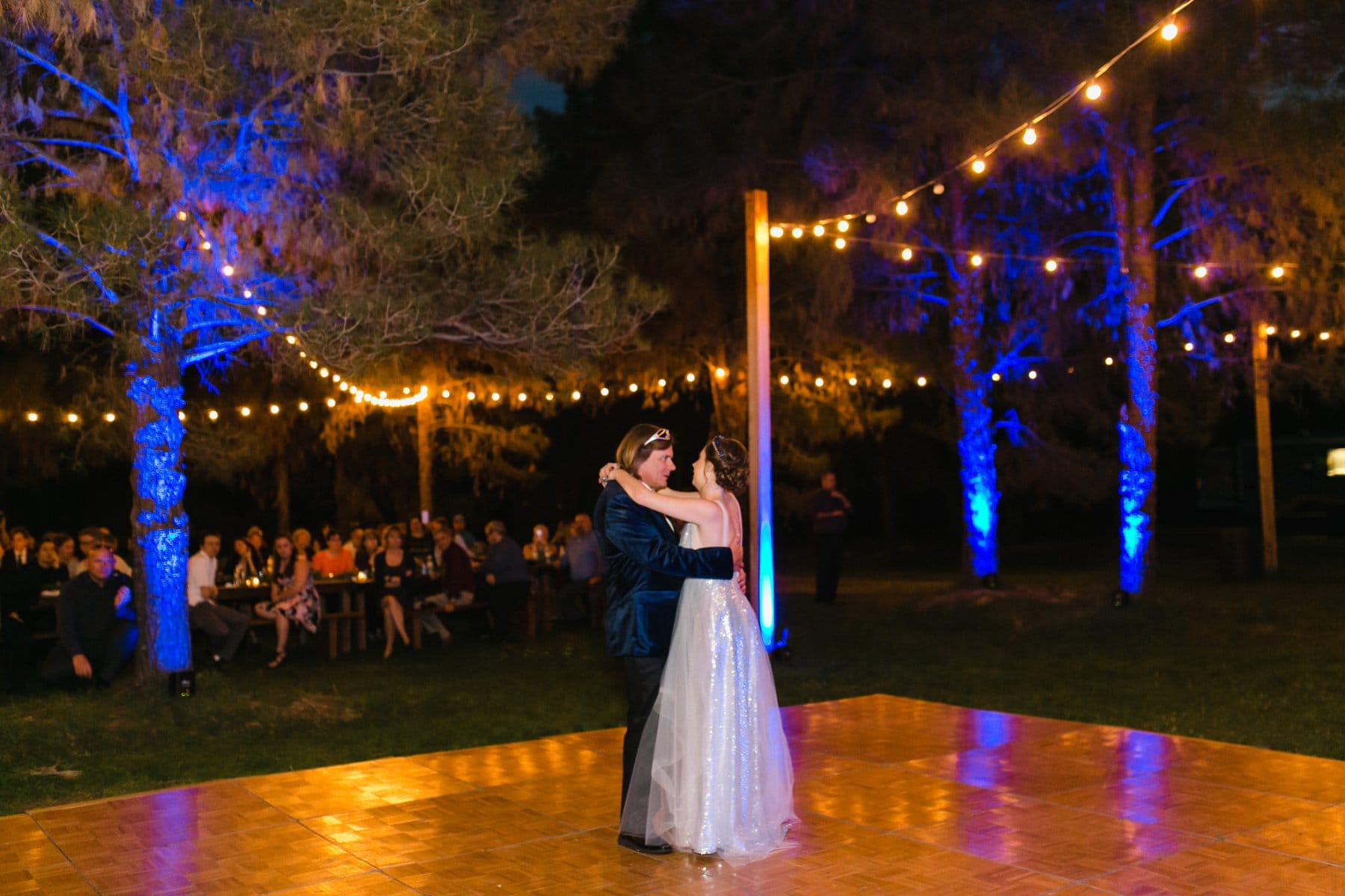 father daughter dance at the Meadow Schnepf Farms reception