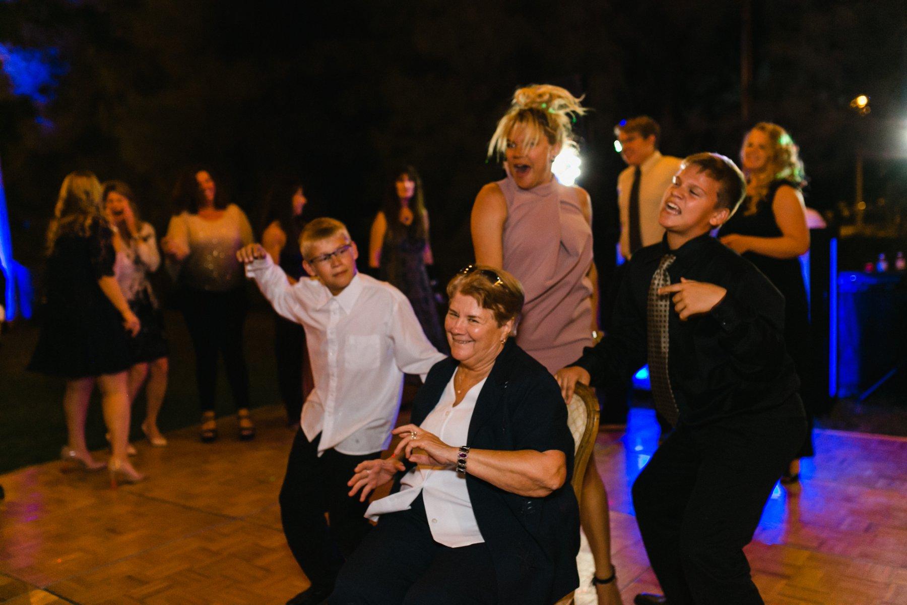 wedding reception at Schnepf Farms