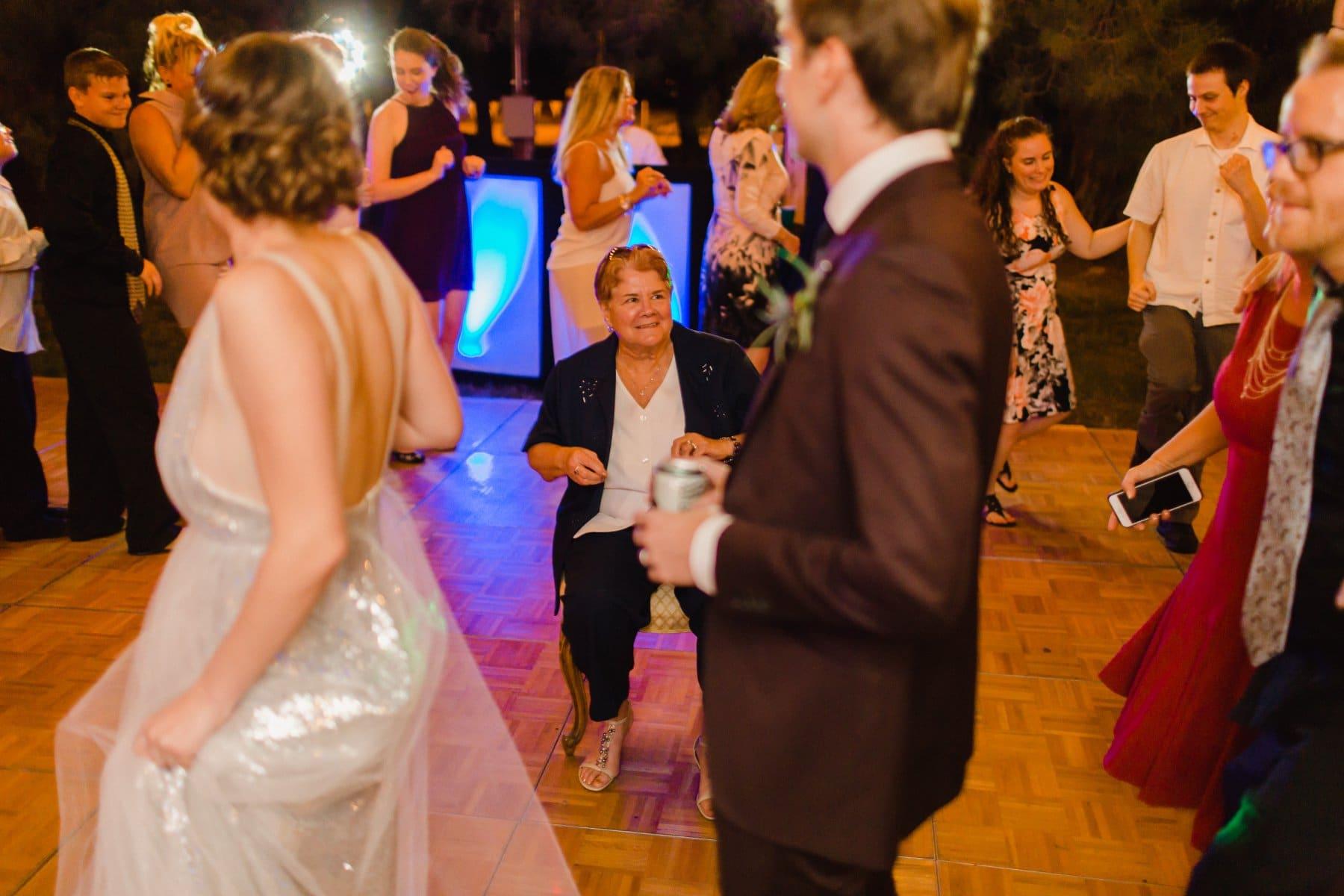 wedding reception dancing at the Meadow Schnepf Farms