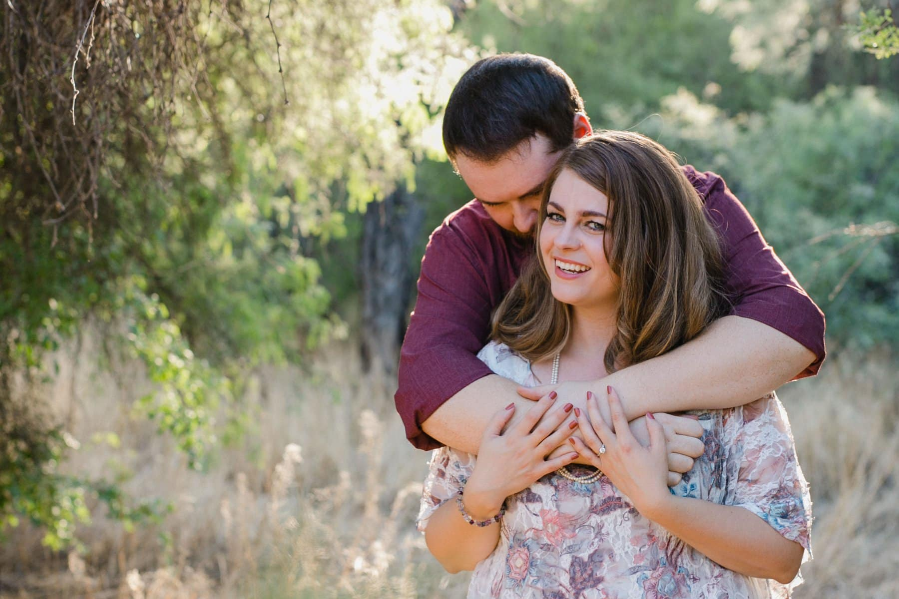 natural looking engagement photos in Phoenix