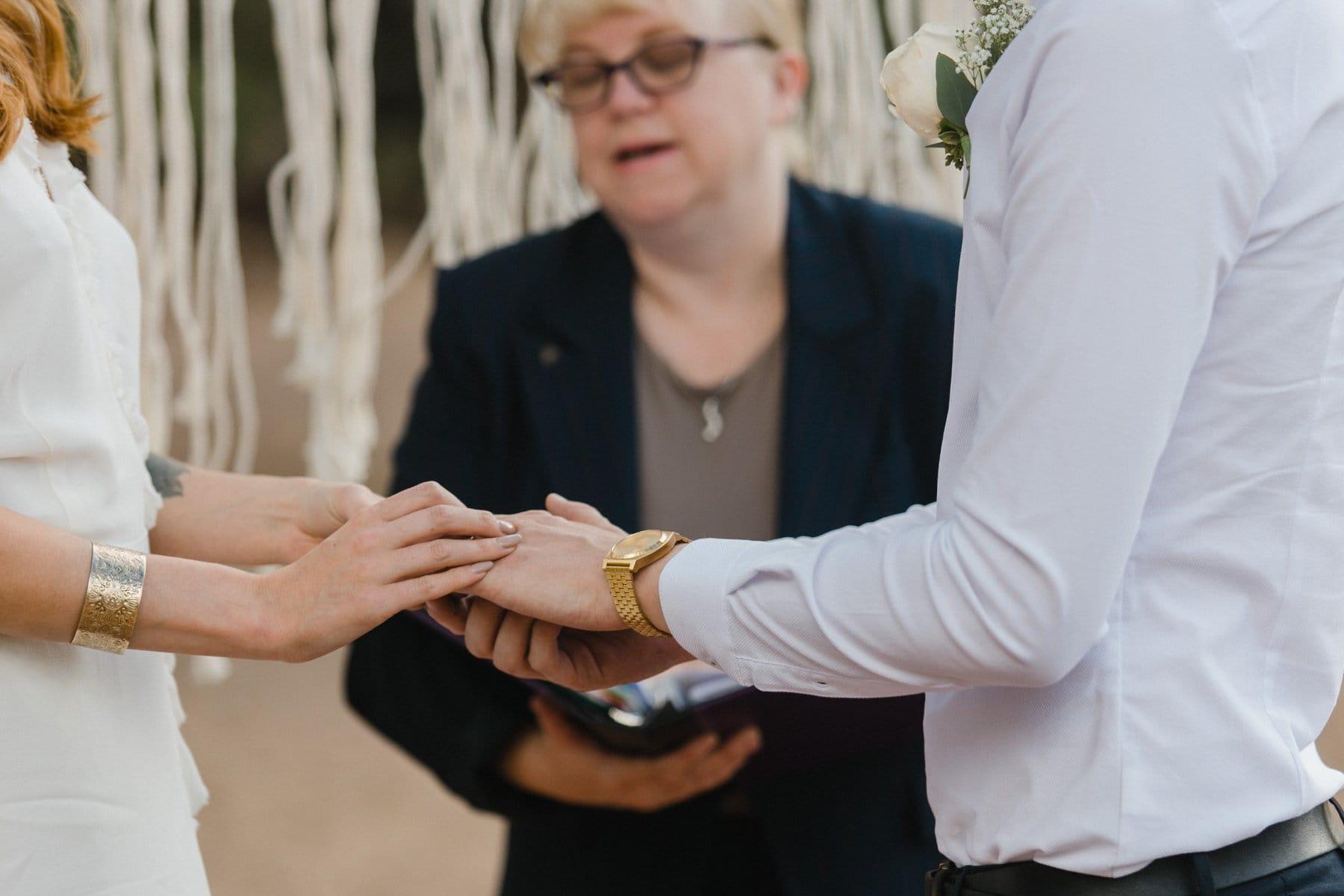 ring exchange outdoor Arizona elopement