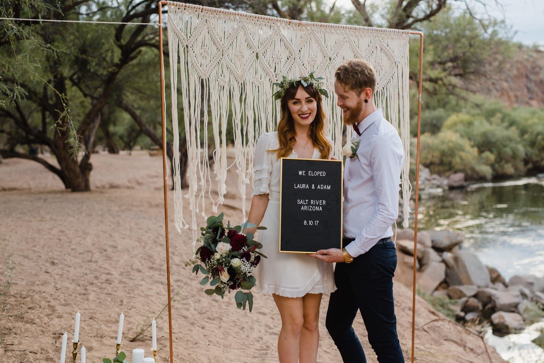 Arizona Salt River elopement