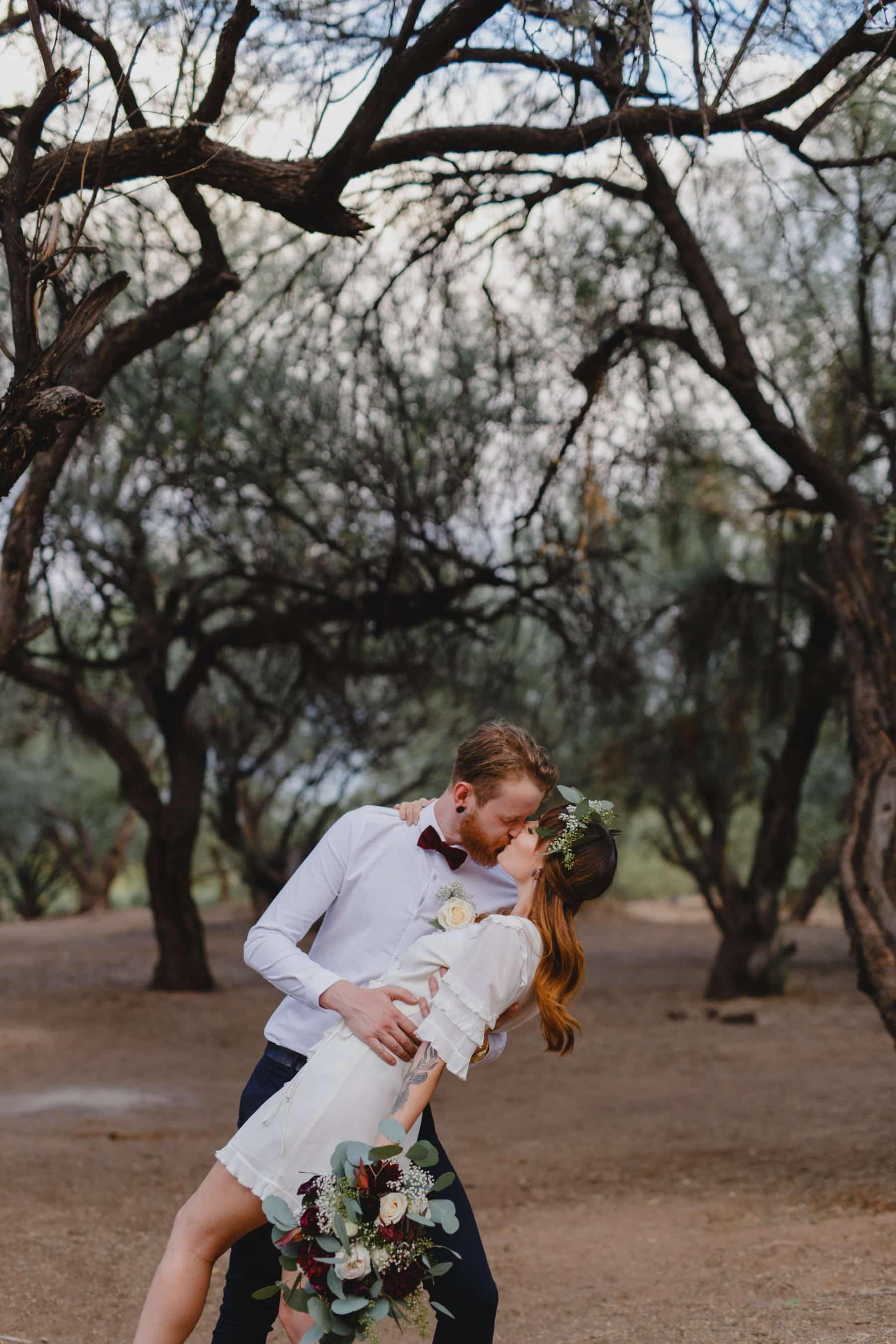 boho forest elopement location in Phoenix