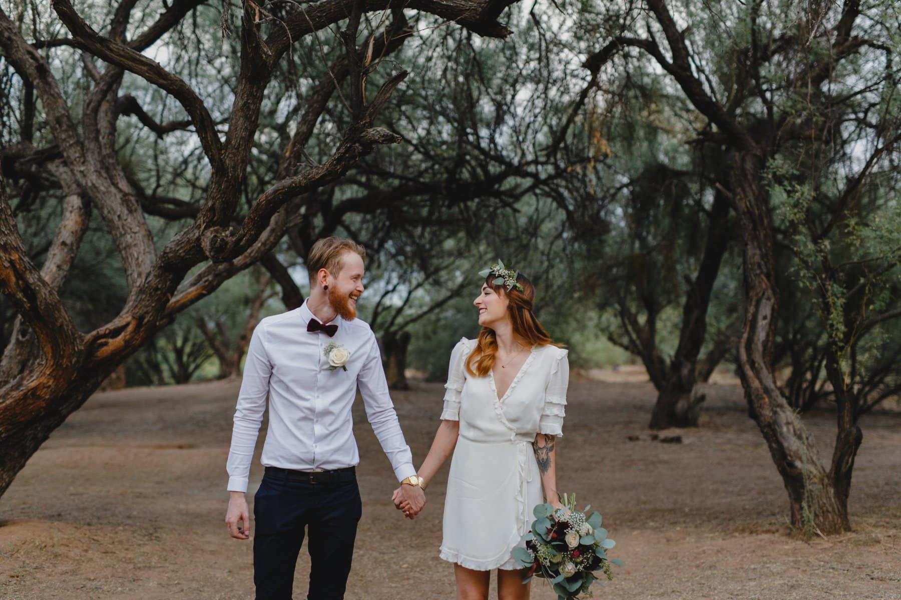 boho forest elopement location in Phoenix area
