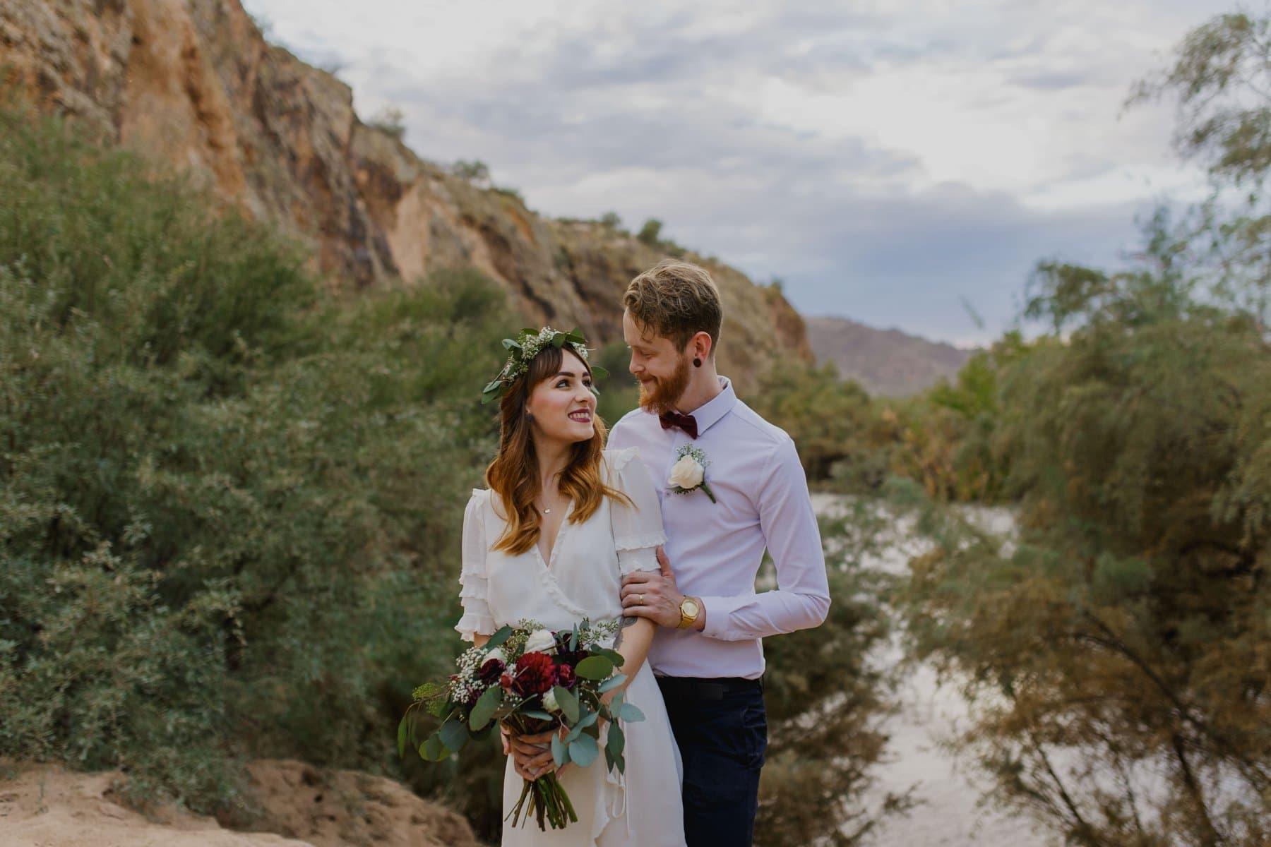Arizona elopement non-desert locations