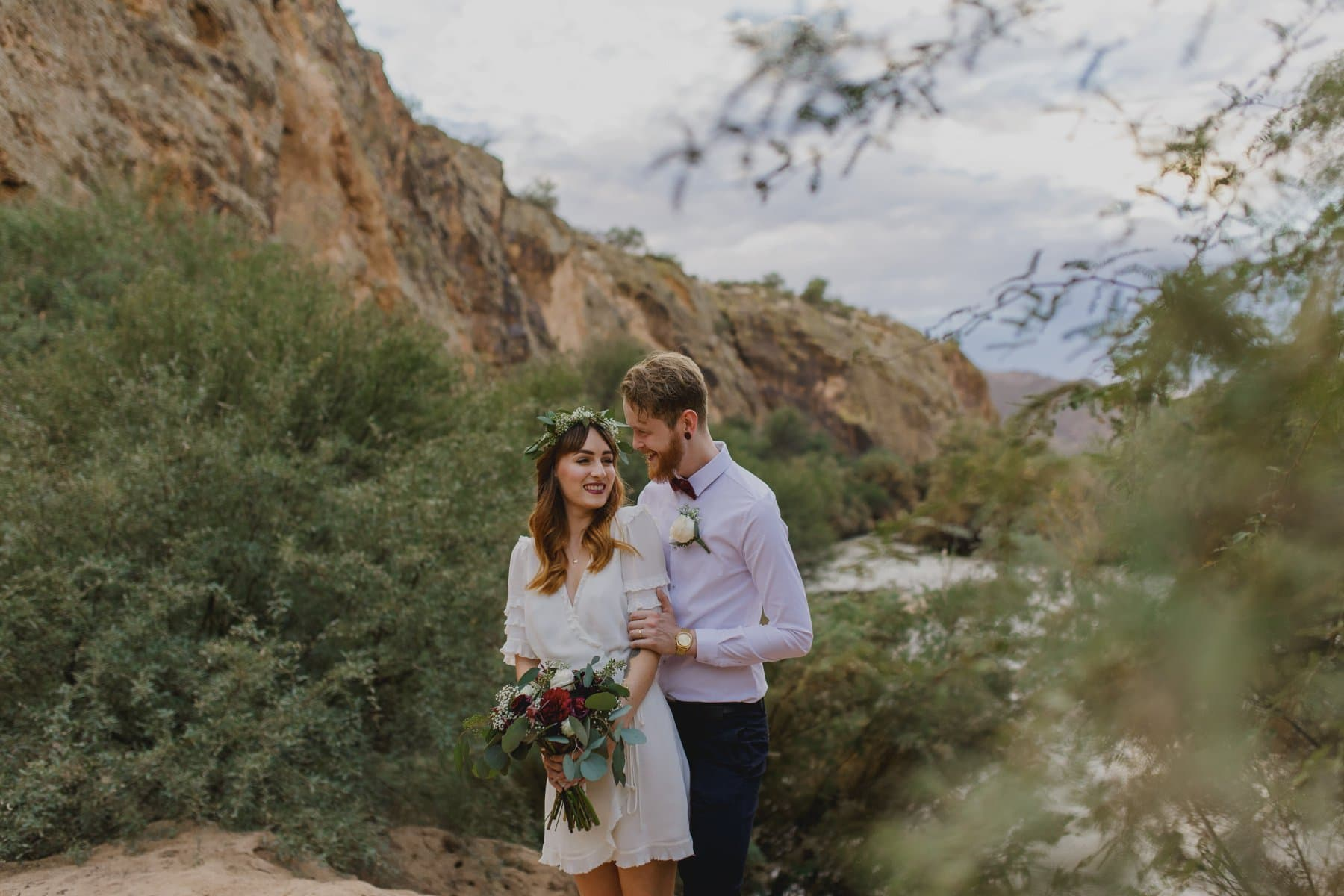 Arizona elopement photos Salt River