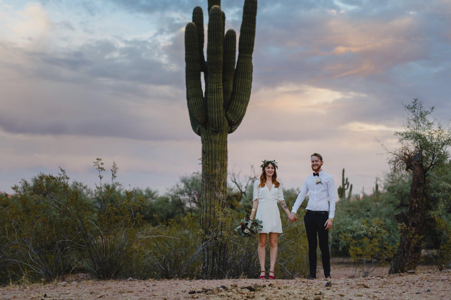 Arizona desert elopement photos