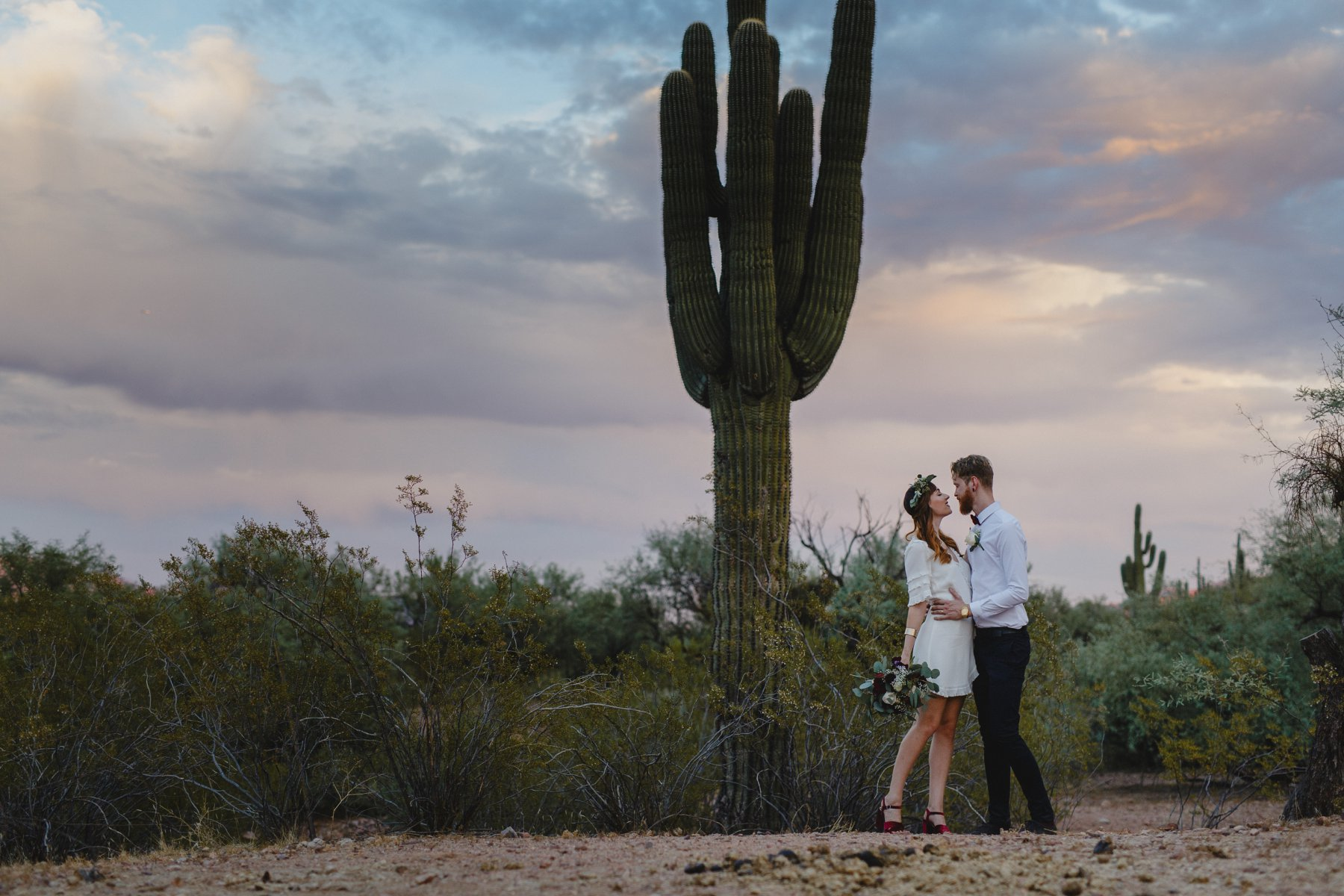 desert elopement photos in Phoenix