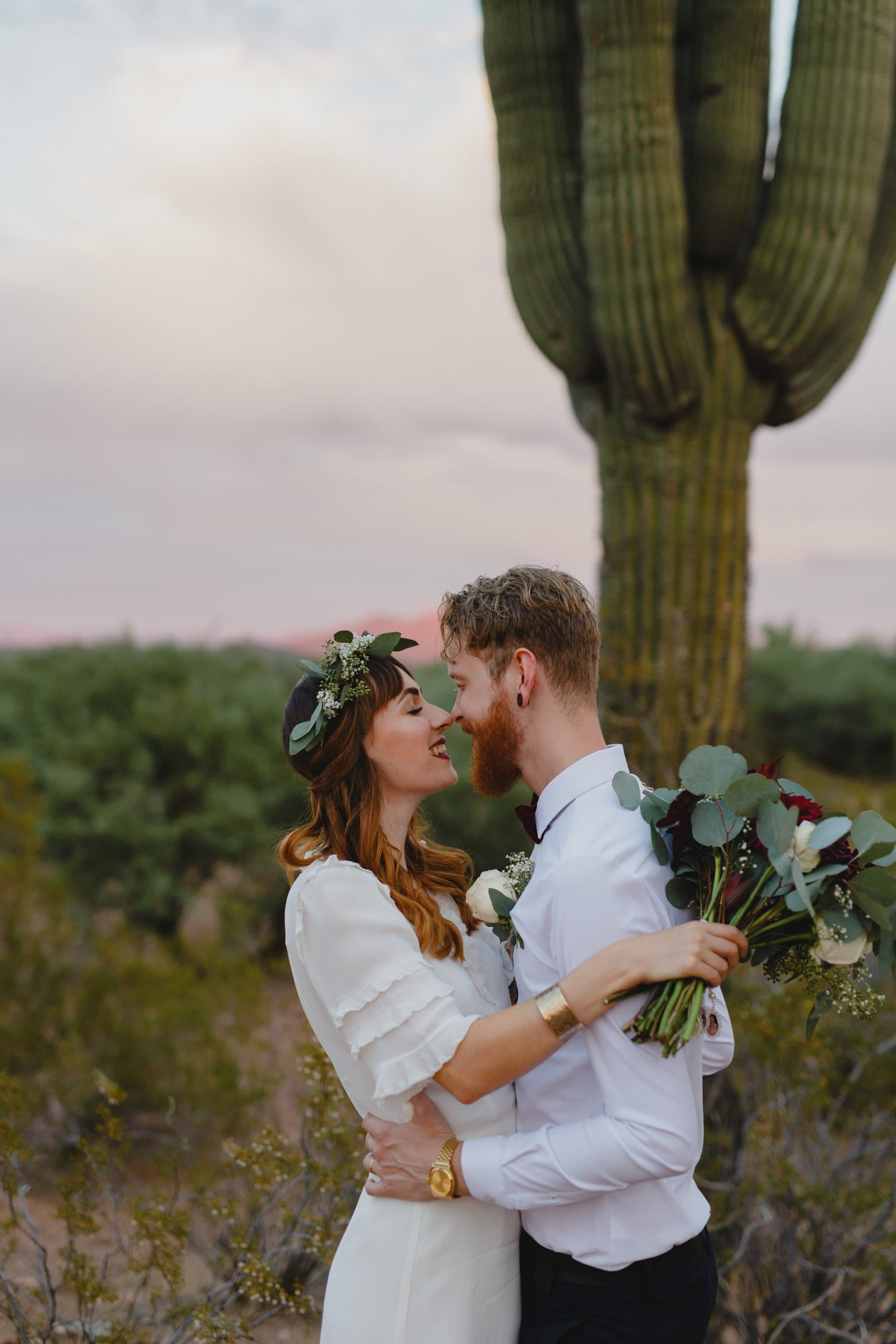 desert elopement photos in Mesa