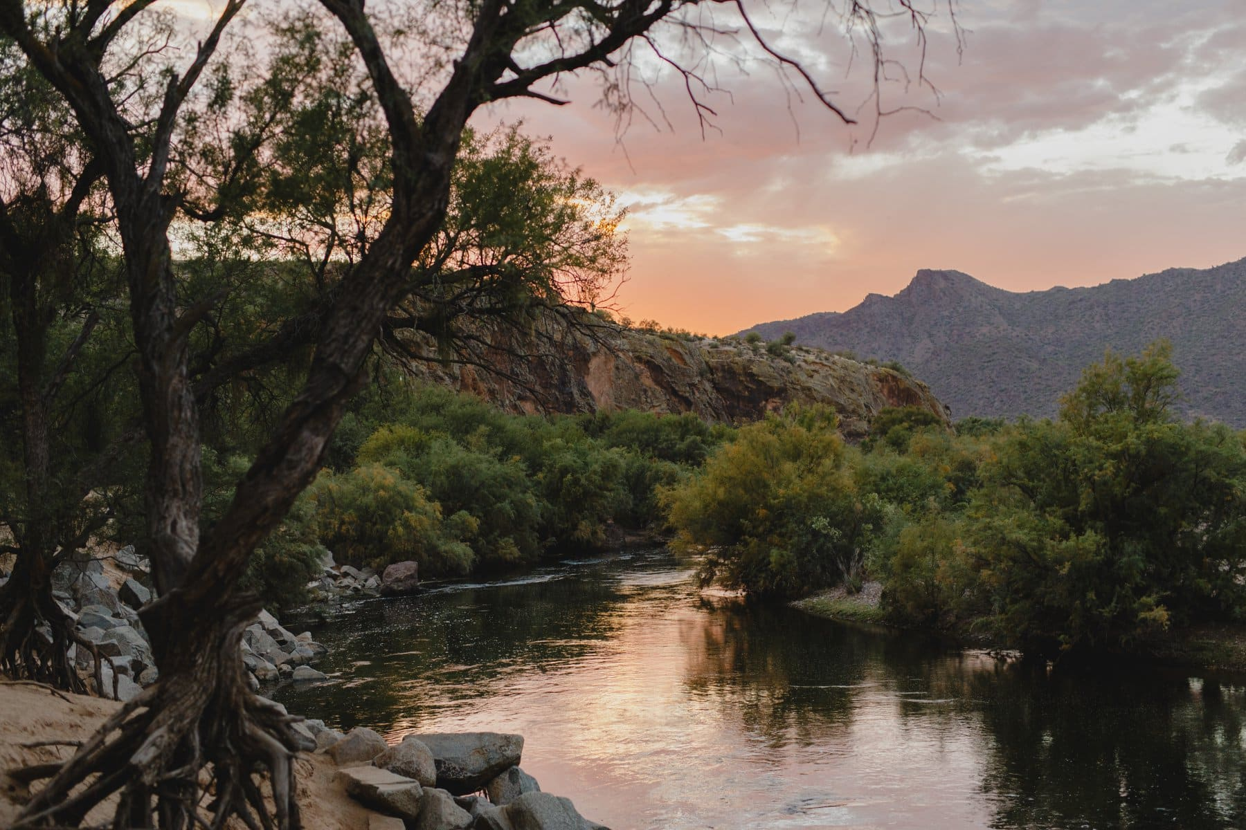 Salt River at sunset