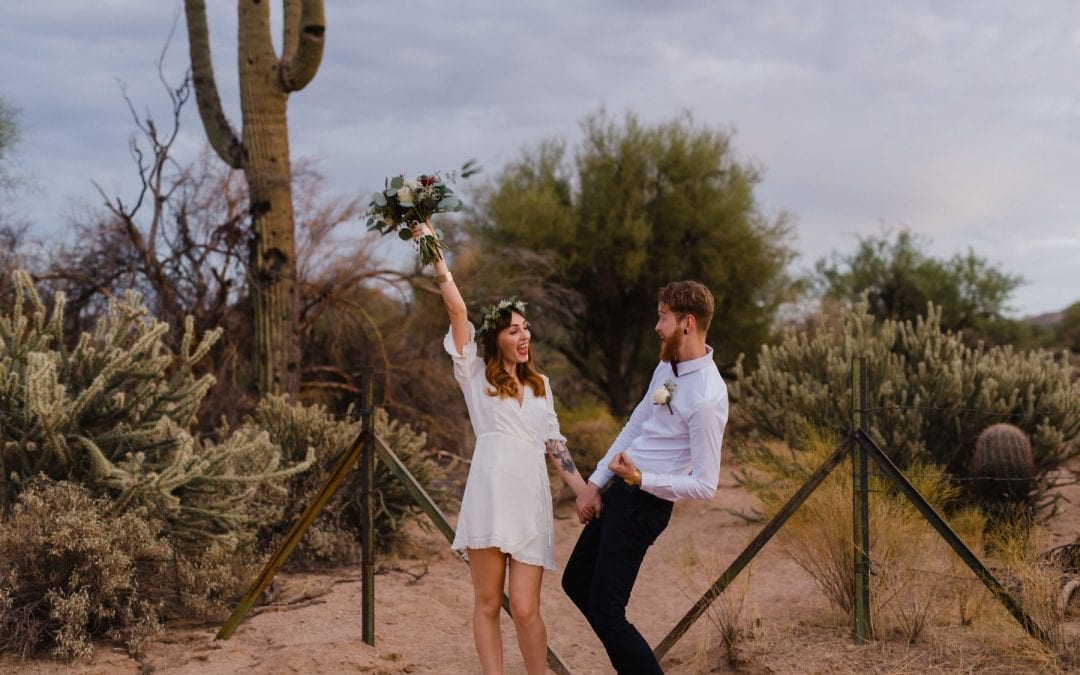 Laura & Adam Boho Salt River Elopement