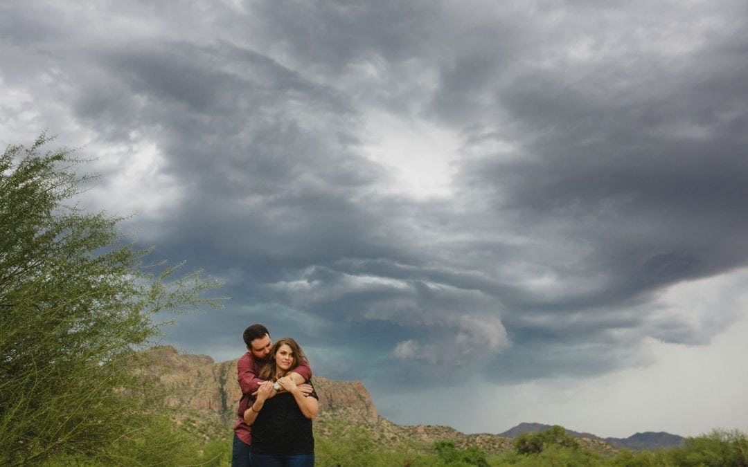 Krista & Zakk's Salt River Engagement Photos