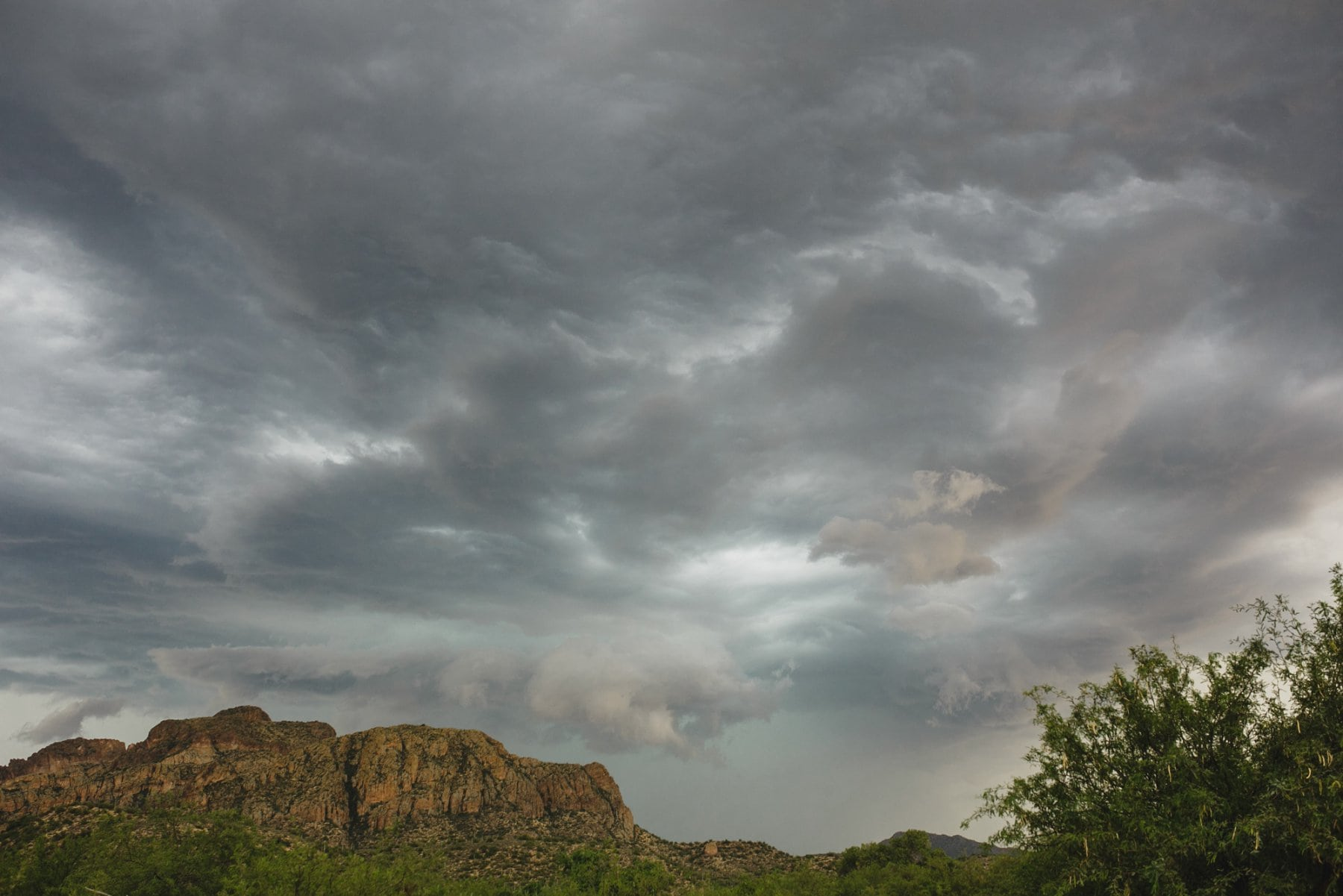 dramatic storm over Salt River mountains