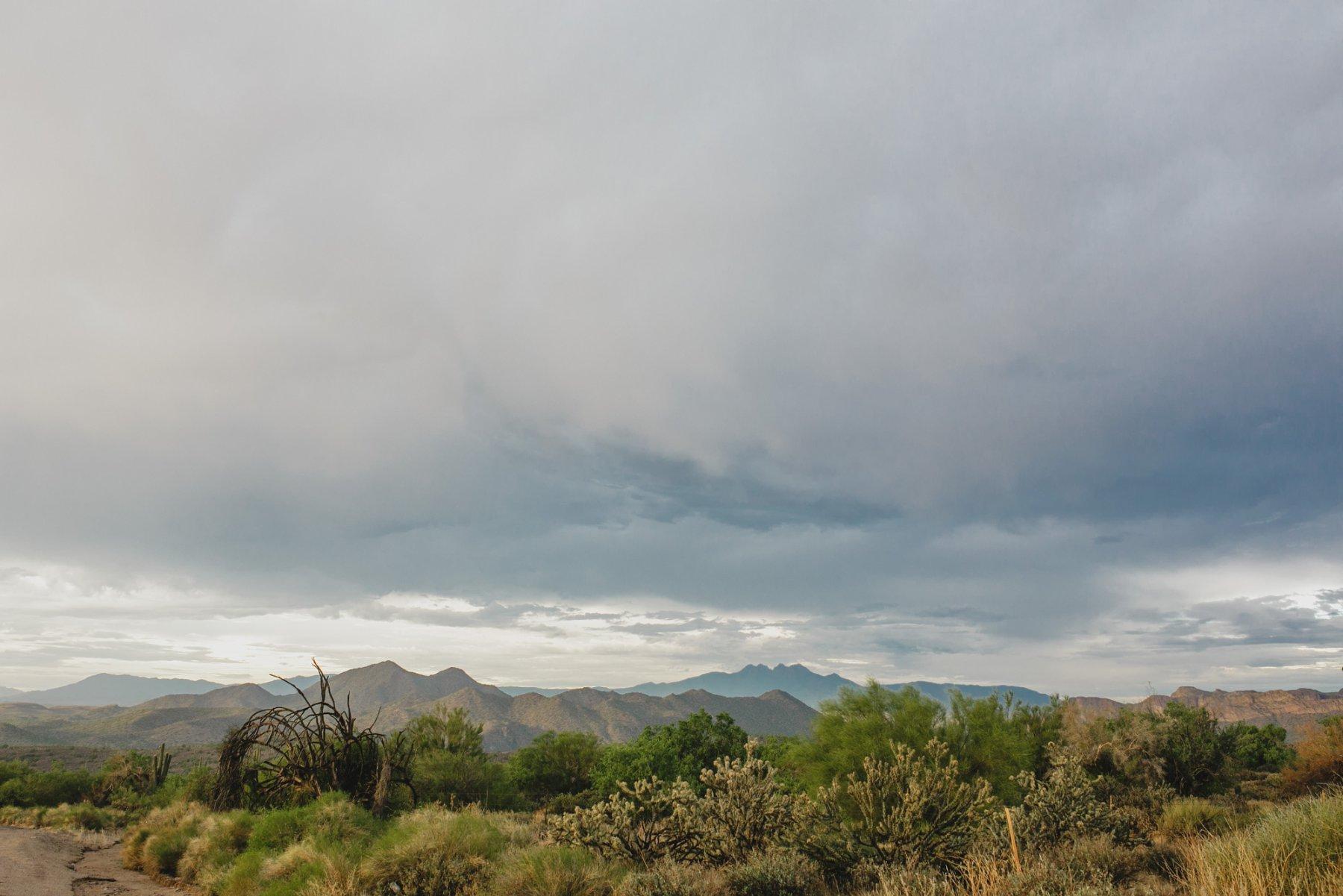 Salt River monsoon storm