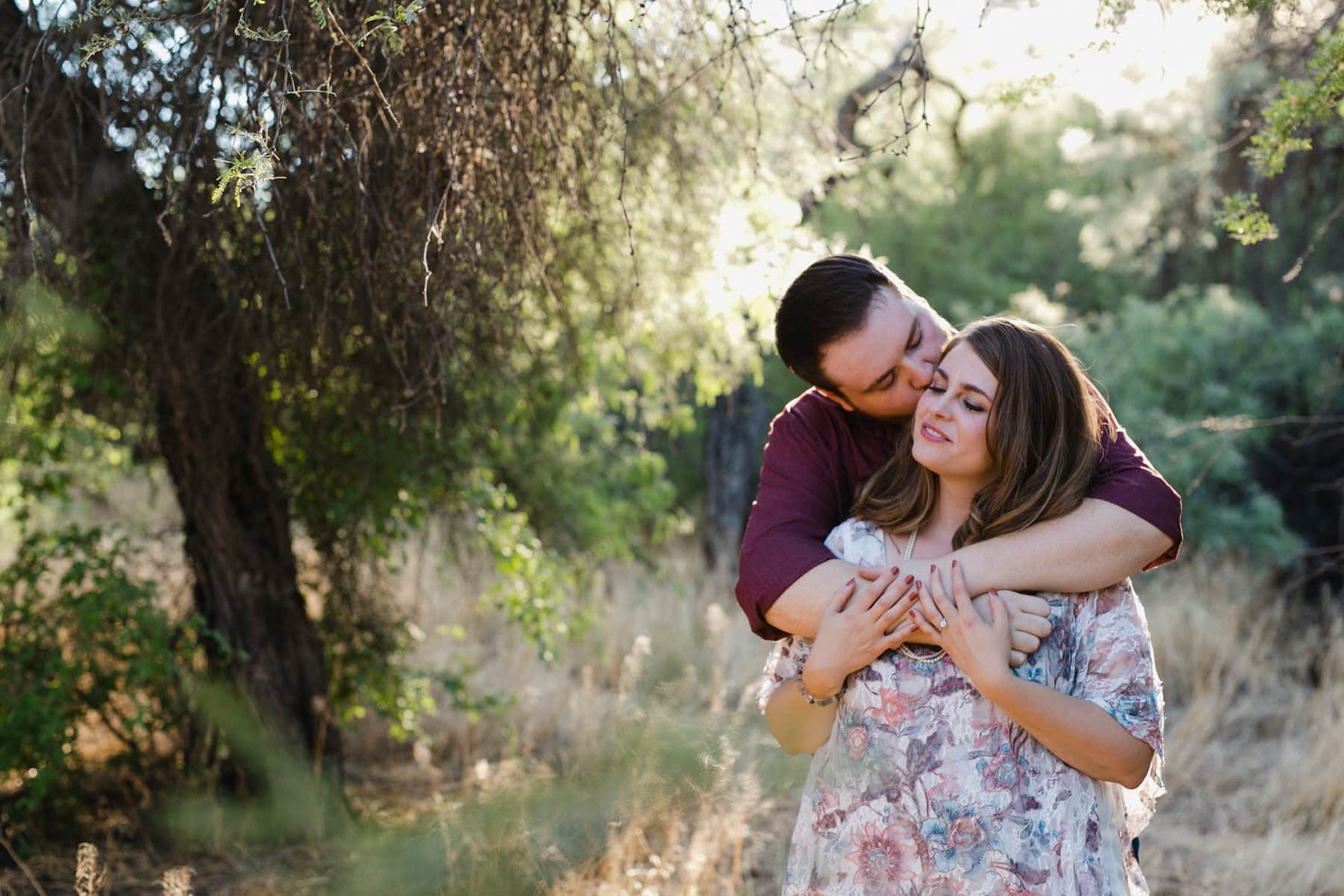 tree location for engagement photos in Phoenix