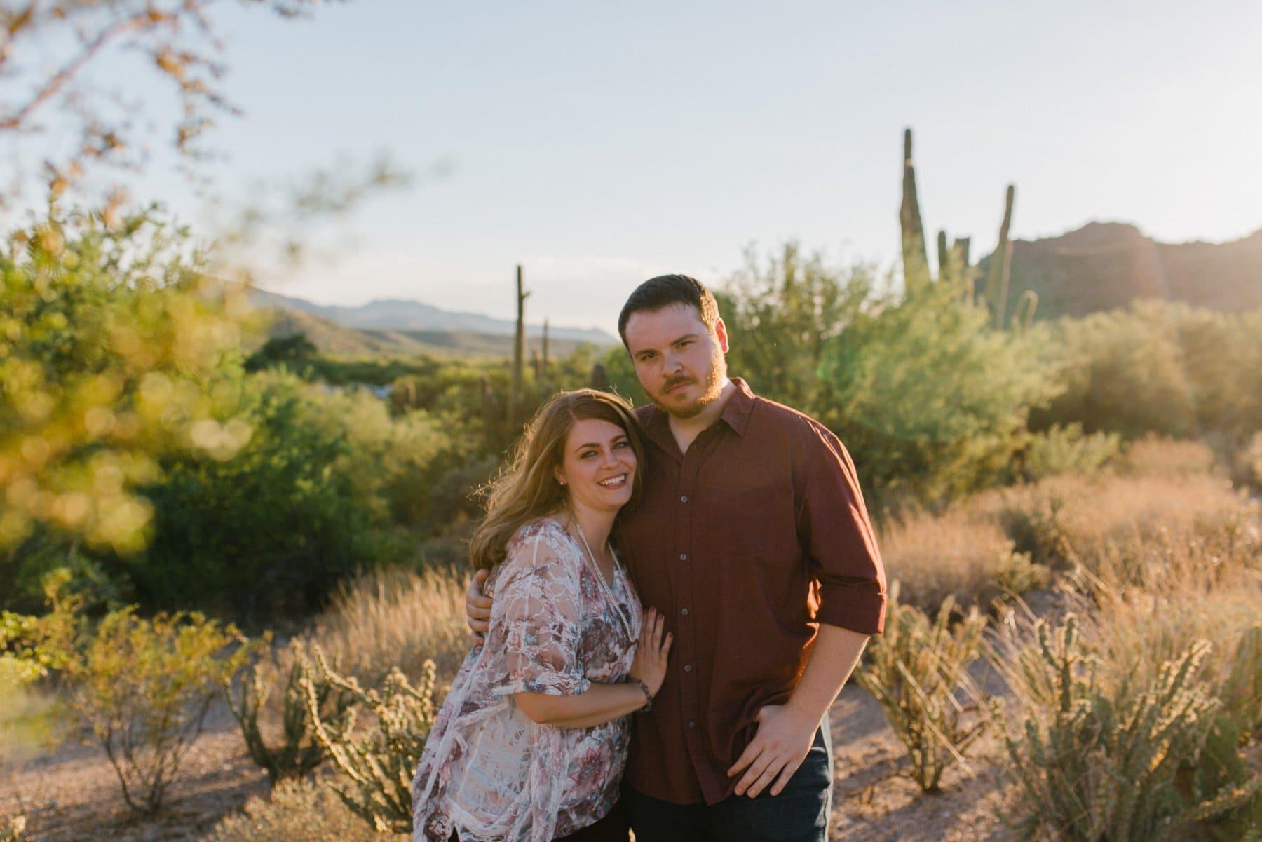 Arizona desert engagement photos