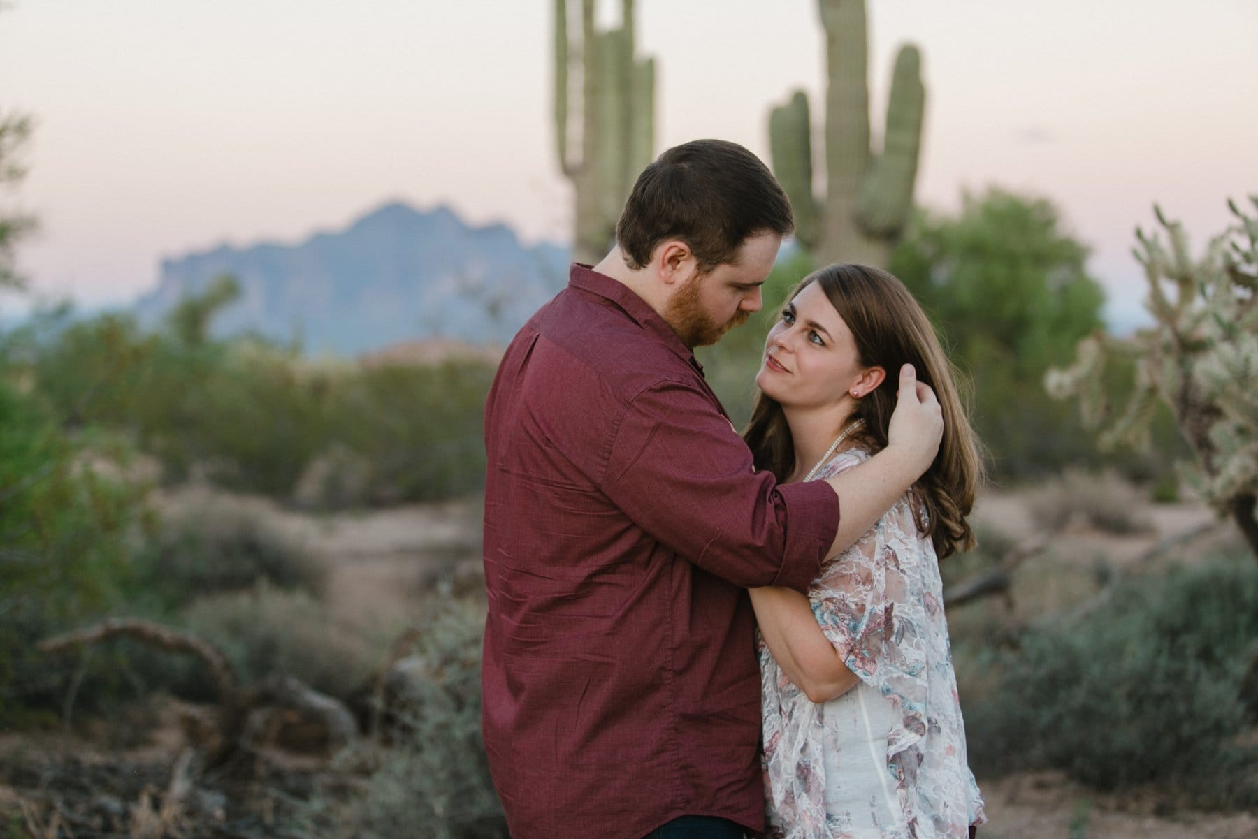 natural candid engagement photos in Phoenix