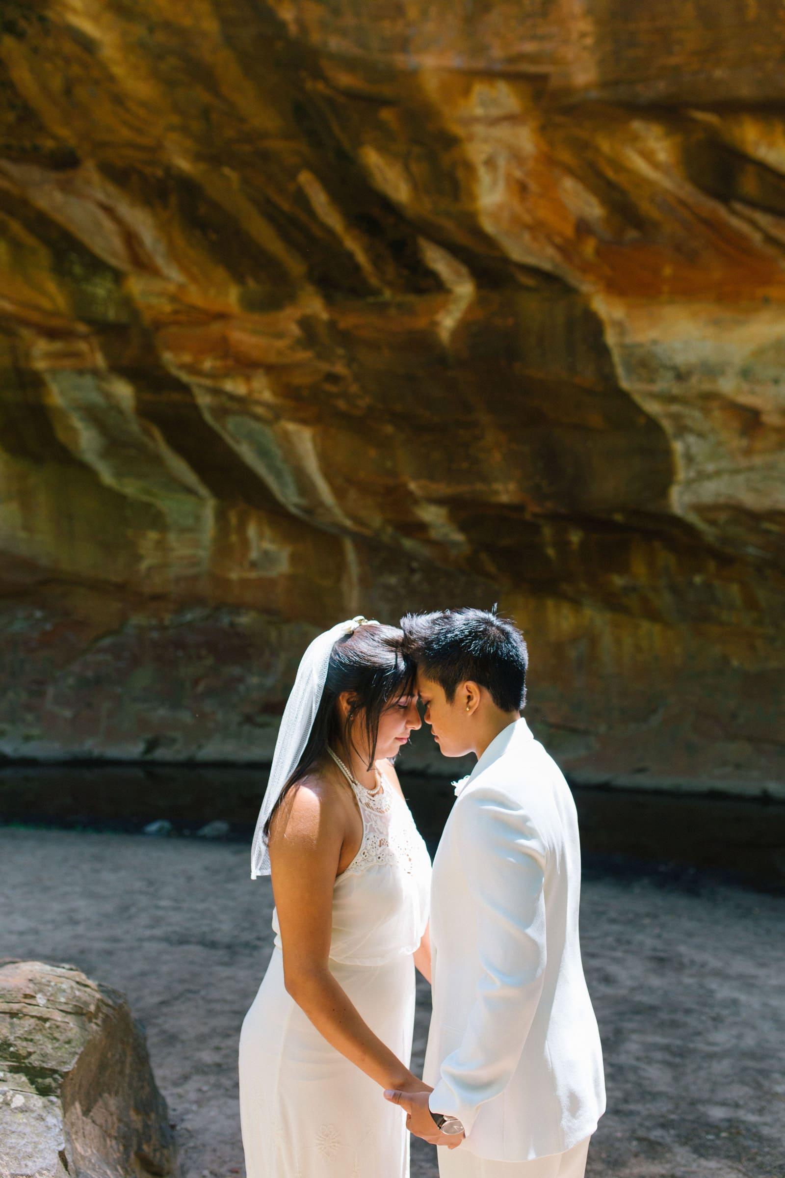 same sex LGBT friendly elopement photographer Sedona