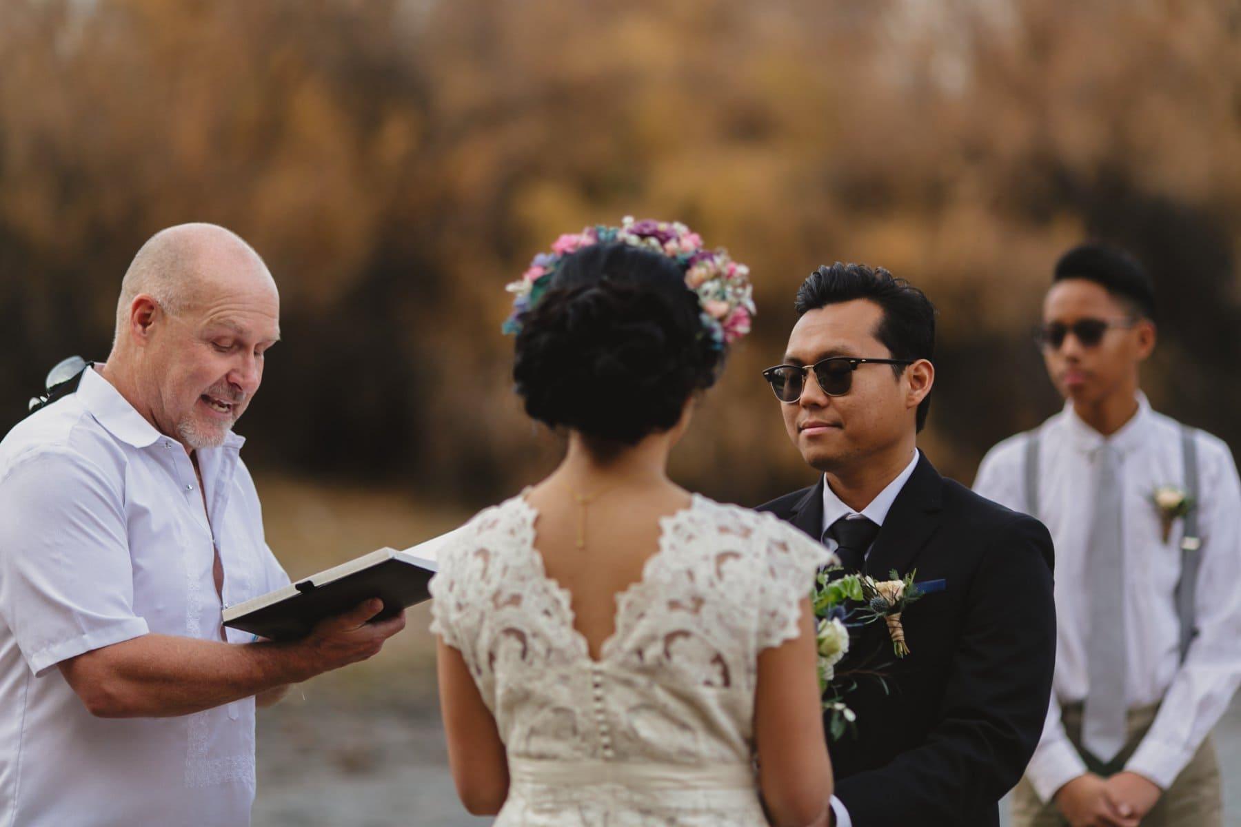 Salt River outdoor wedding in winter