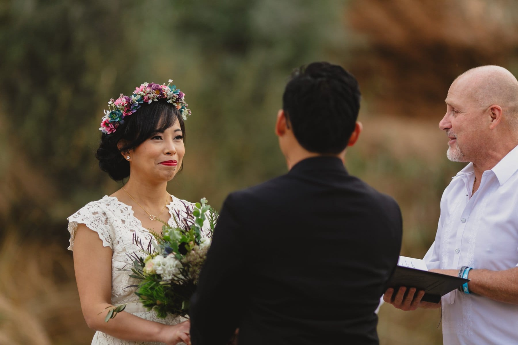 salt river outdoor wedding ceremony