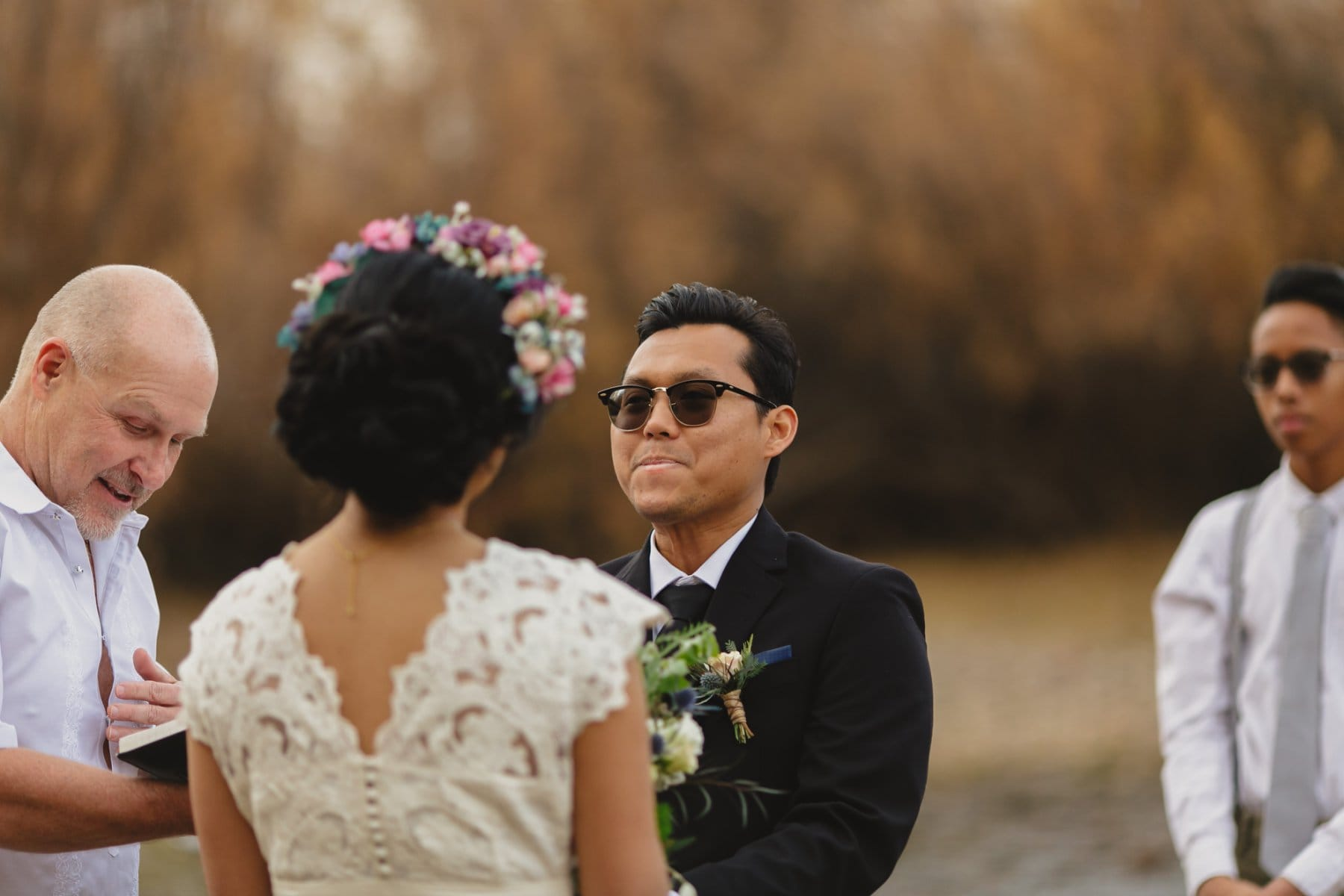 salt river outdoor small wedding ceremony