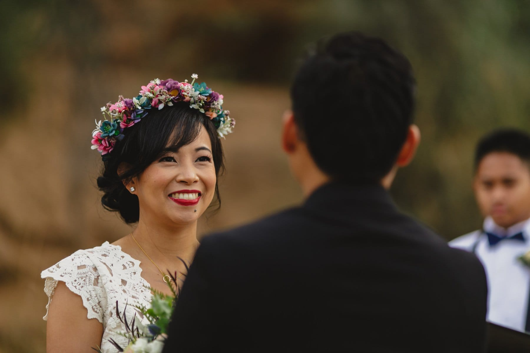 outdoor small wedding at Salt River, AZ