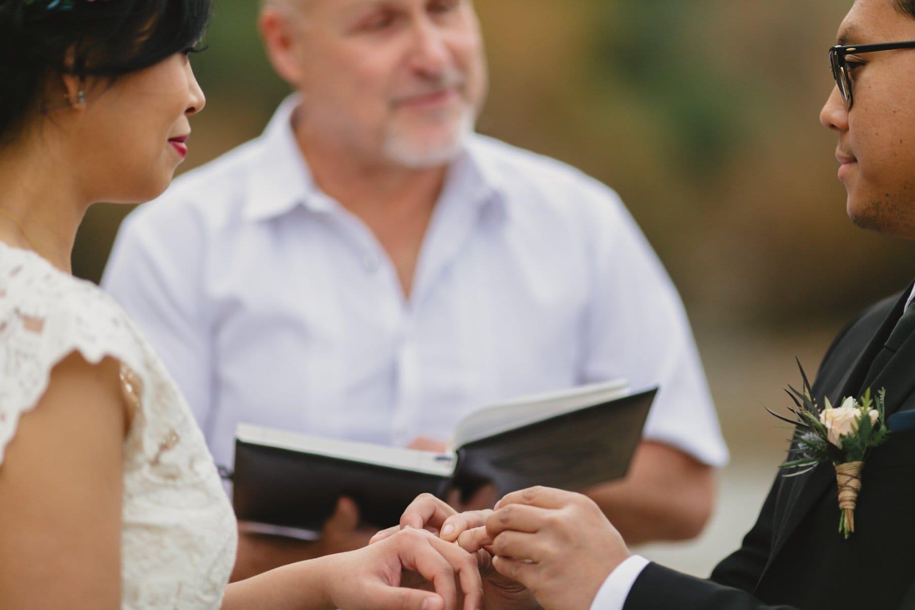 ring exchange small intimate wedding Salt River Arizona