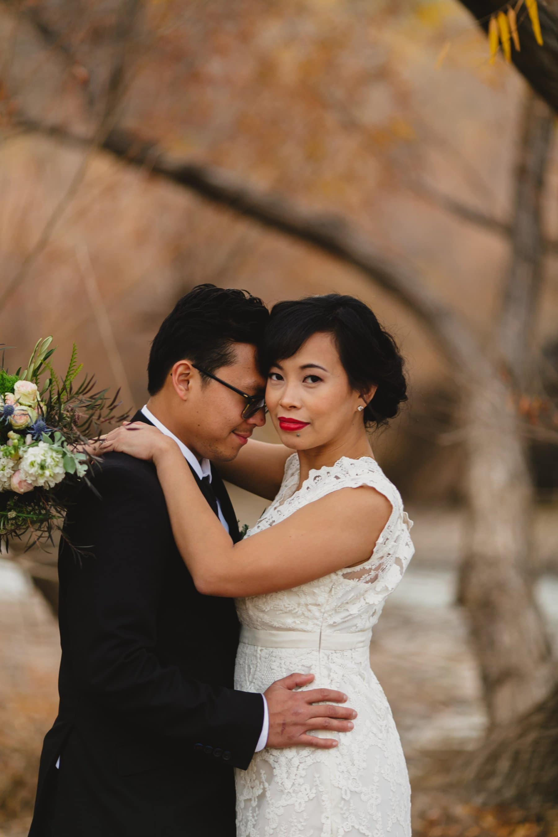 fall wedding outdoor elopement in Arizona