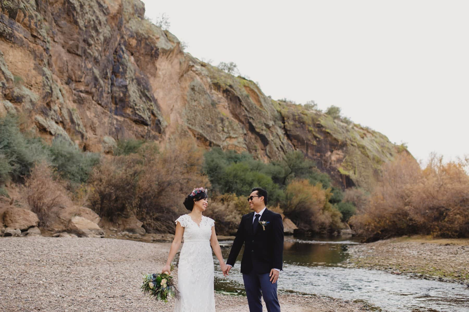 Salt River outdoor wedding locations for small weddings in Arizona