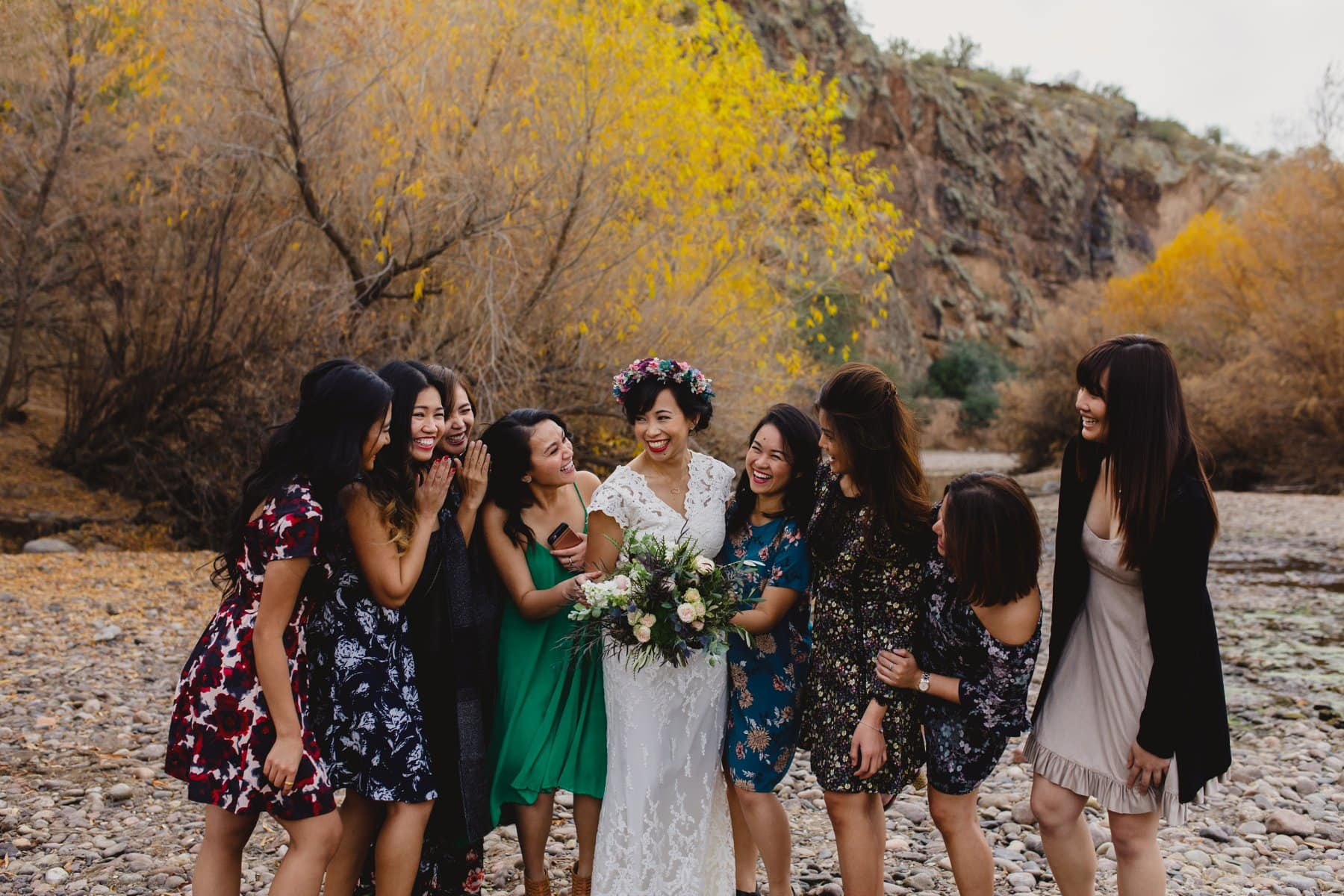 Salt River small wedding bride & bridesmaids