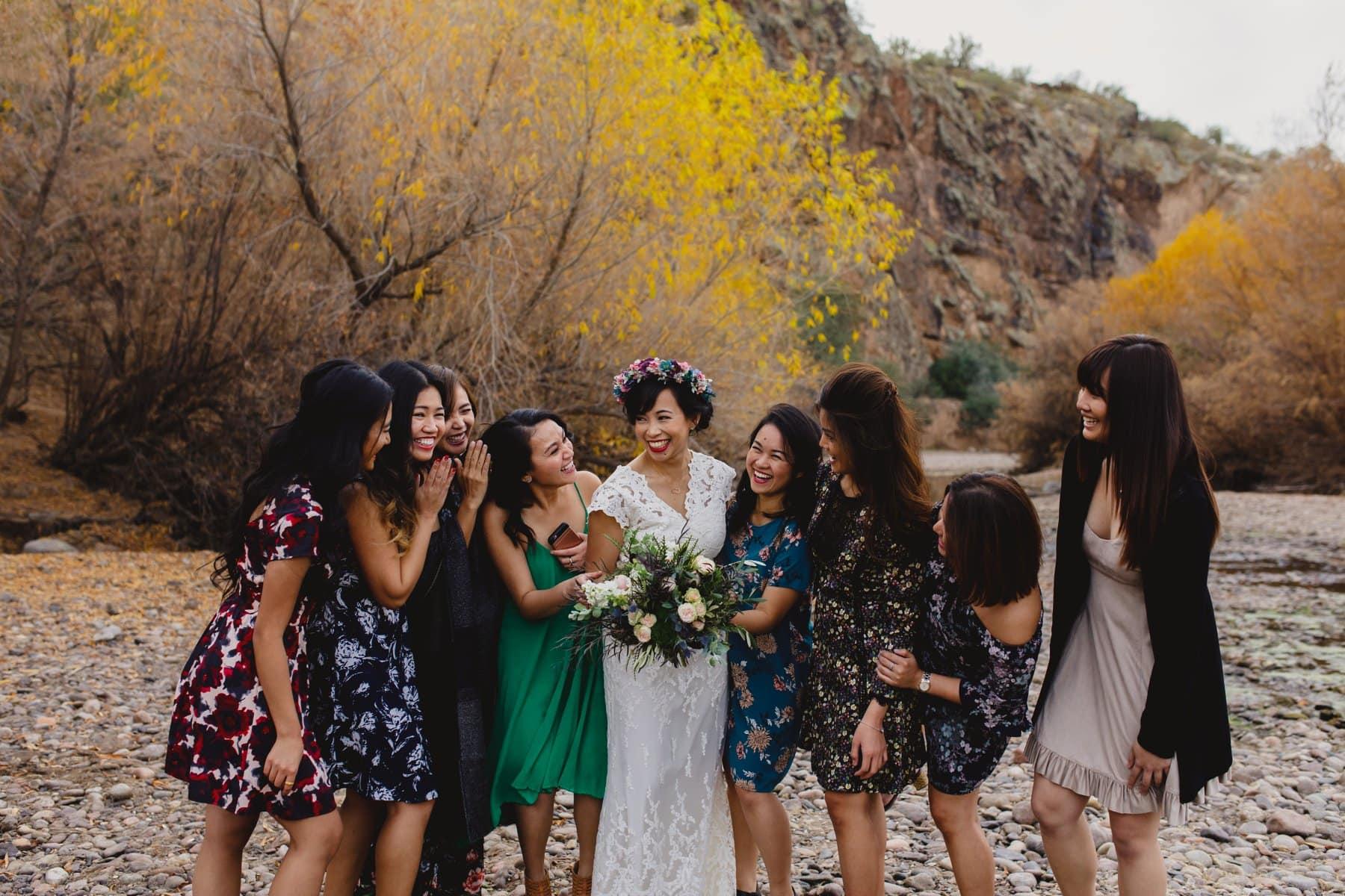 Salt River small wedding bride & bridesmaids