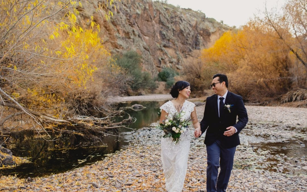 Salt River Small Outdoor Wedding In Arizona- Billy & Jane