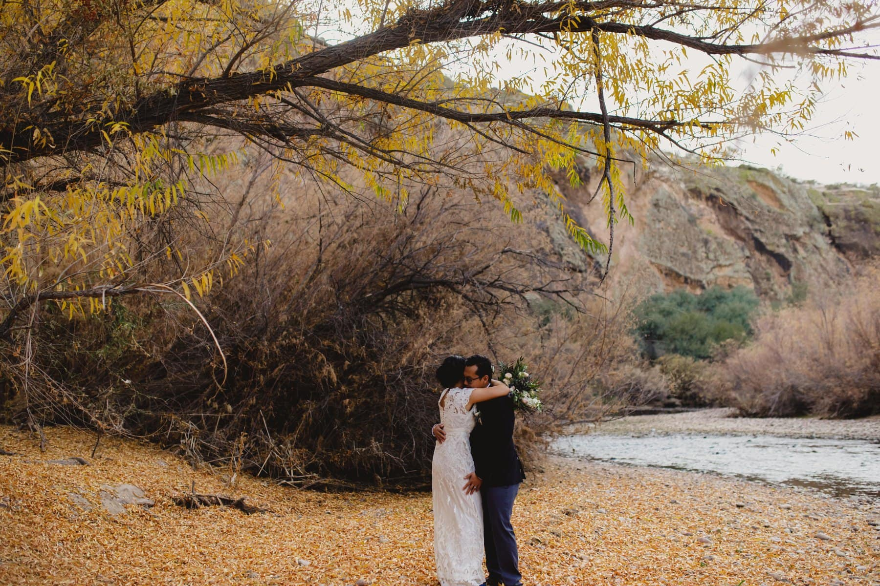 fall outdoor wedding location in Arizona