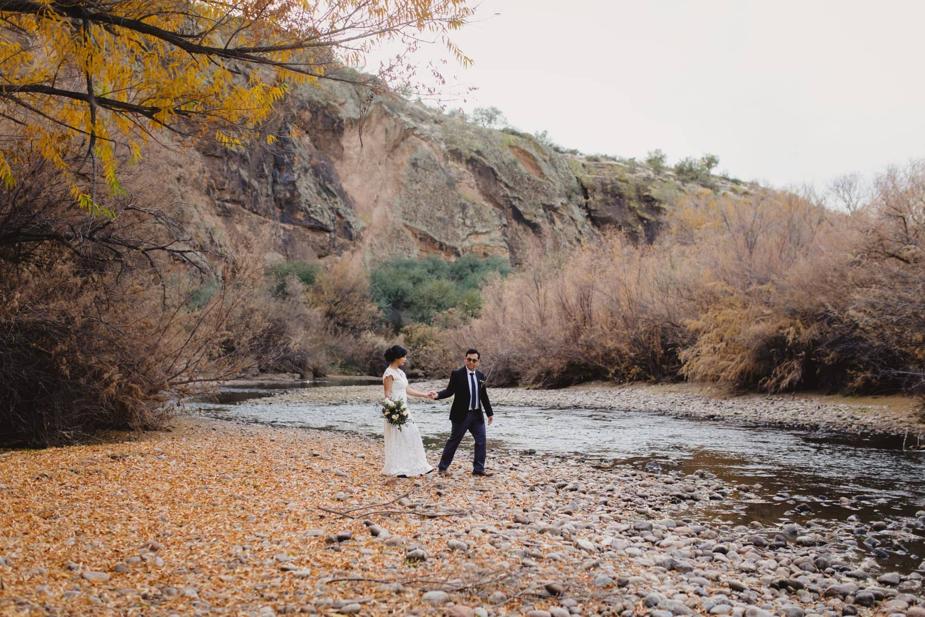 Salt River winter wedding photos
