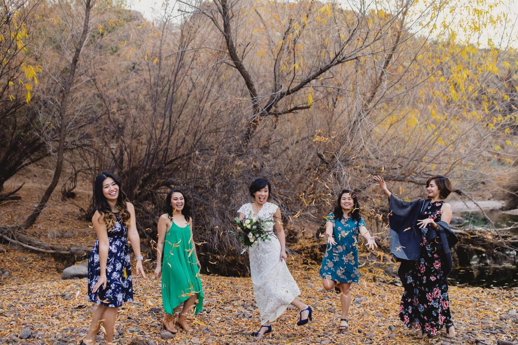 winter wedding at Salt River