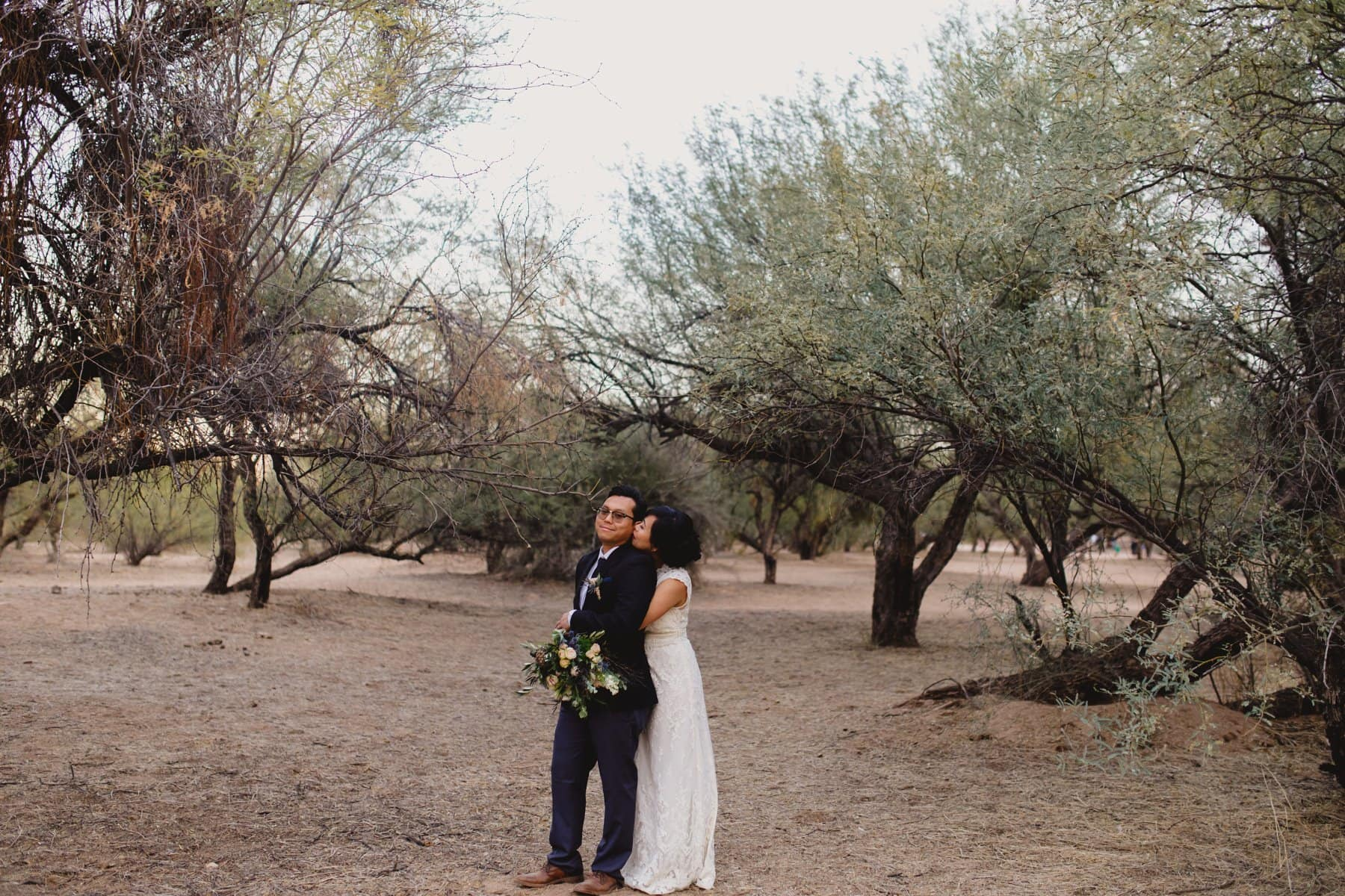 outdoor forest wedding in Phoenix AZ
