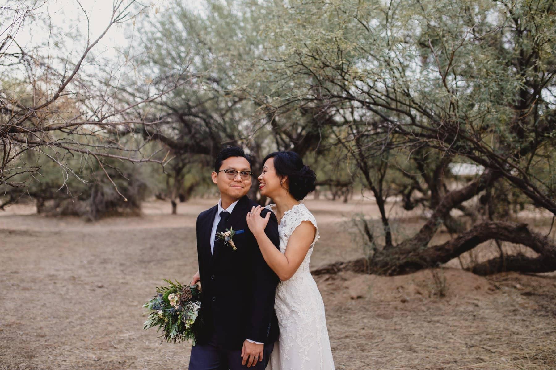 Salt River outdoor wedding photos