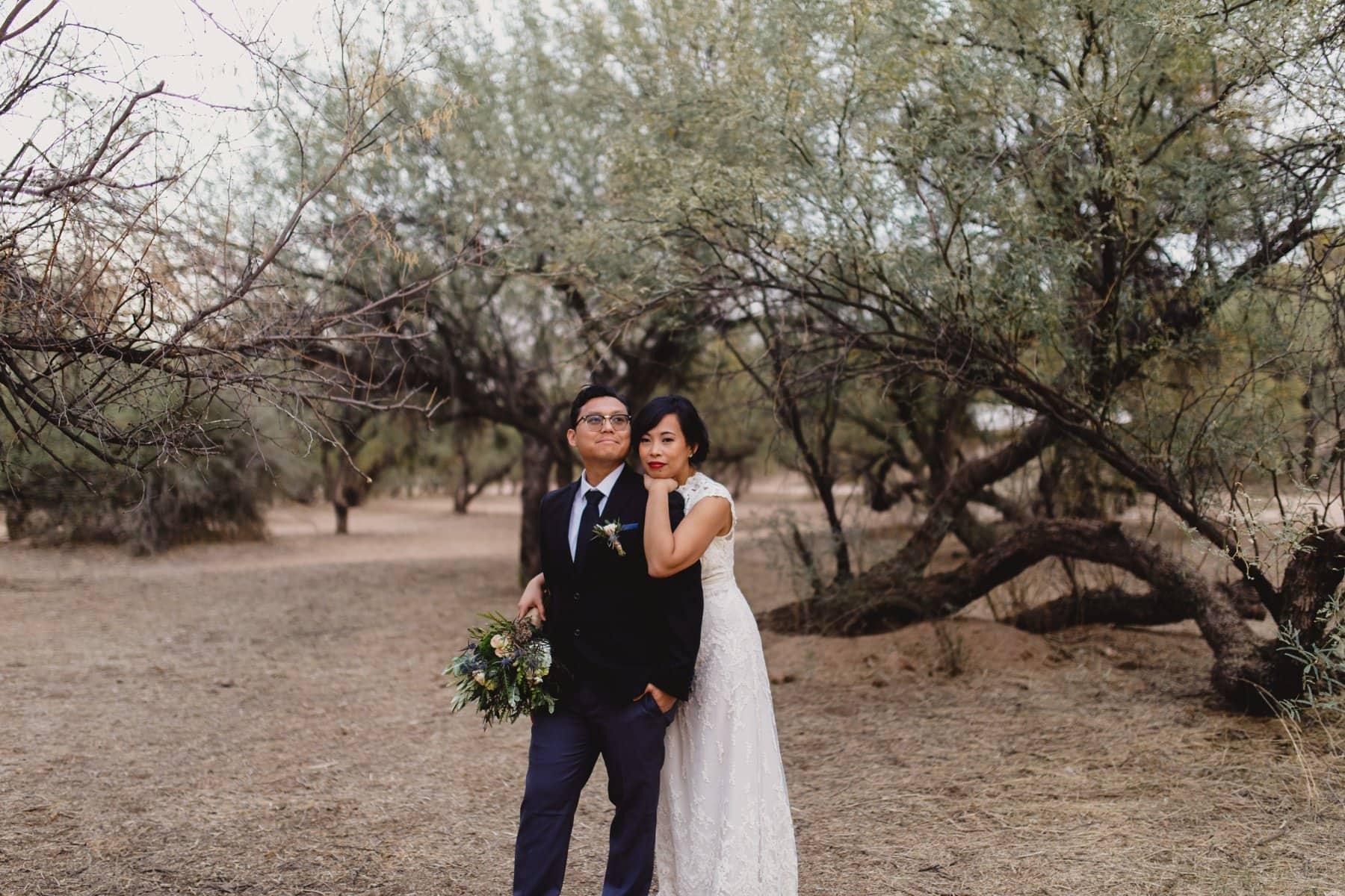 bride & groom photos at Salt River wedding