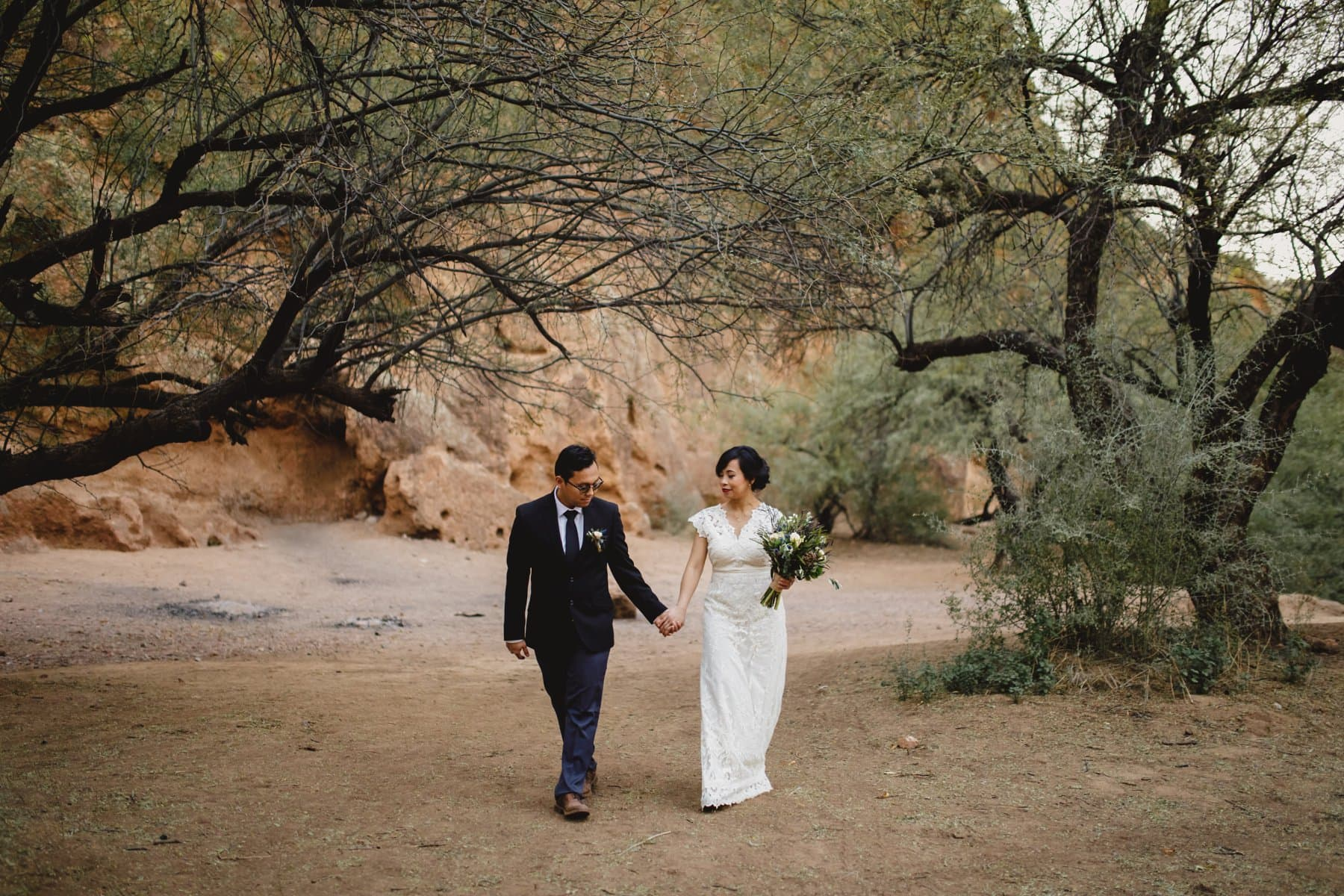 Salt River elopement photos