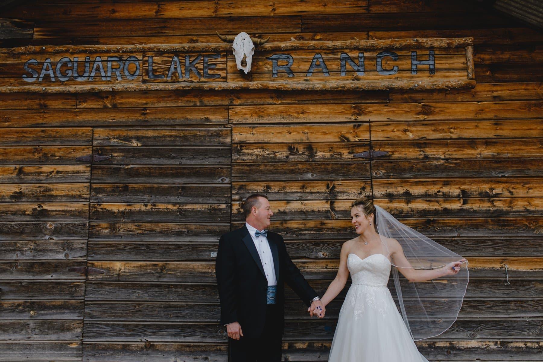 cute rustic wedding venue Saguaro Lake Ranch in Arizona