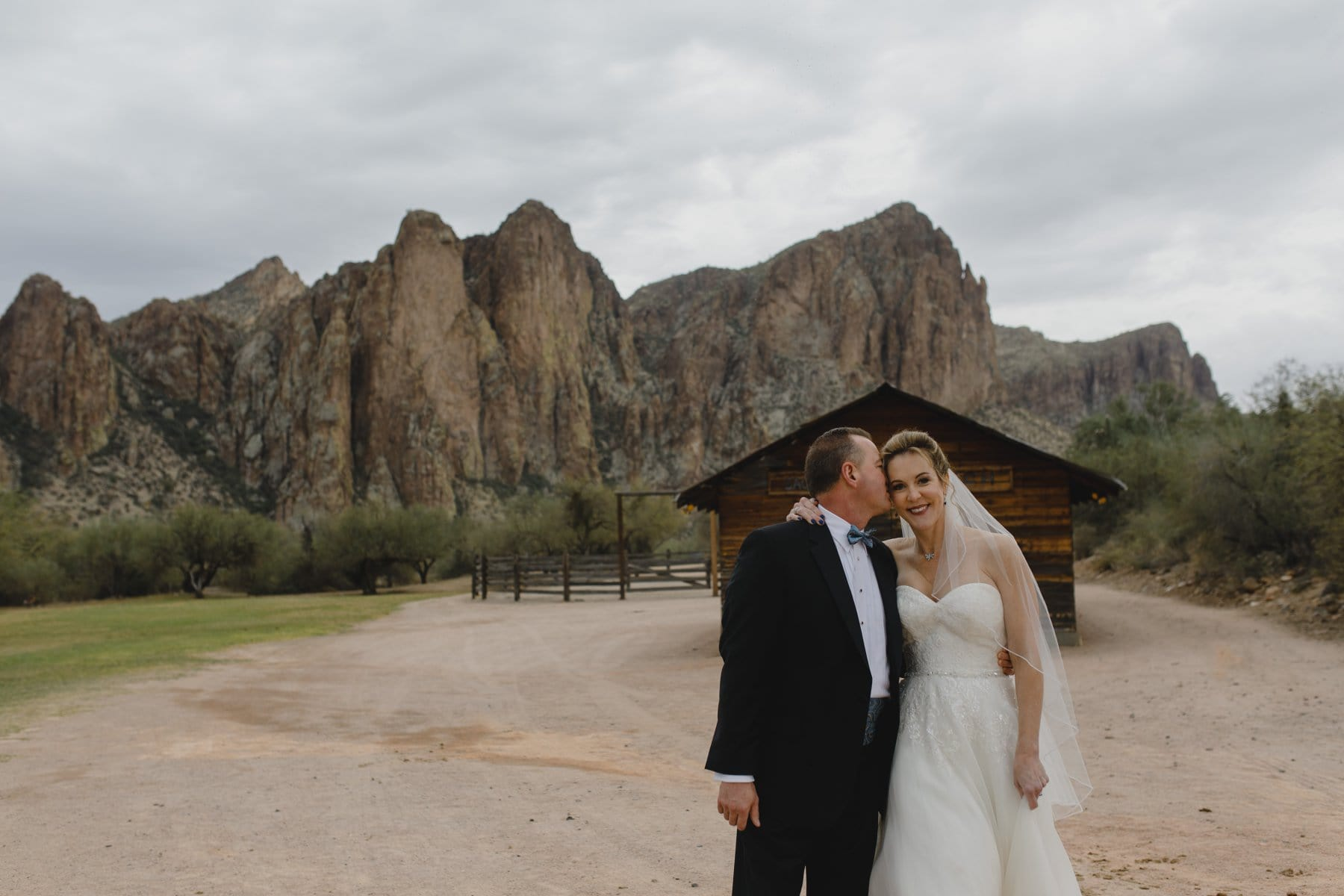 Saguaro Lake Ranch wedding venue on cloudy day