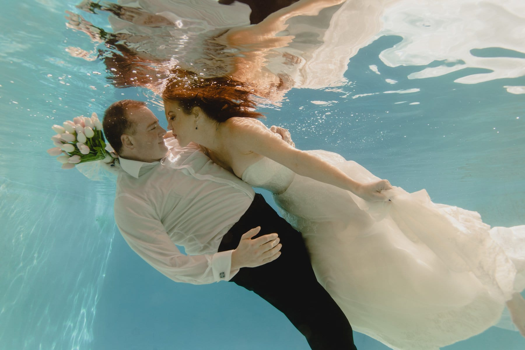 underwater trash the dress photos Phoenix