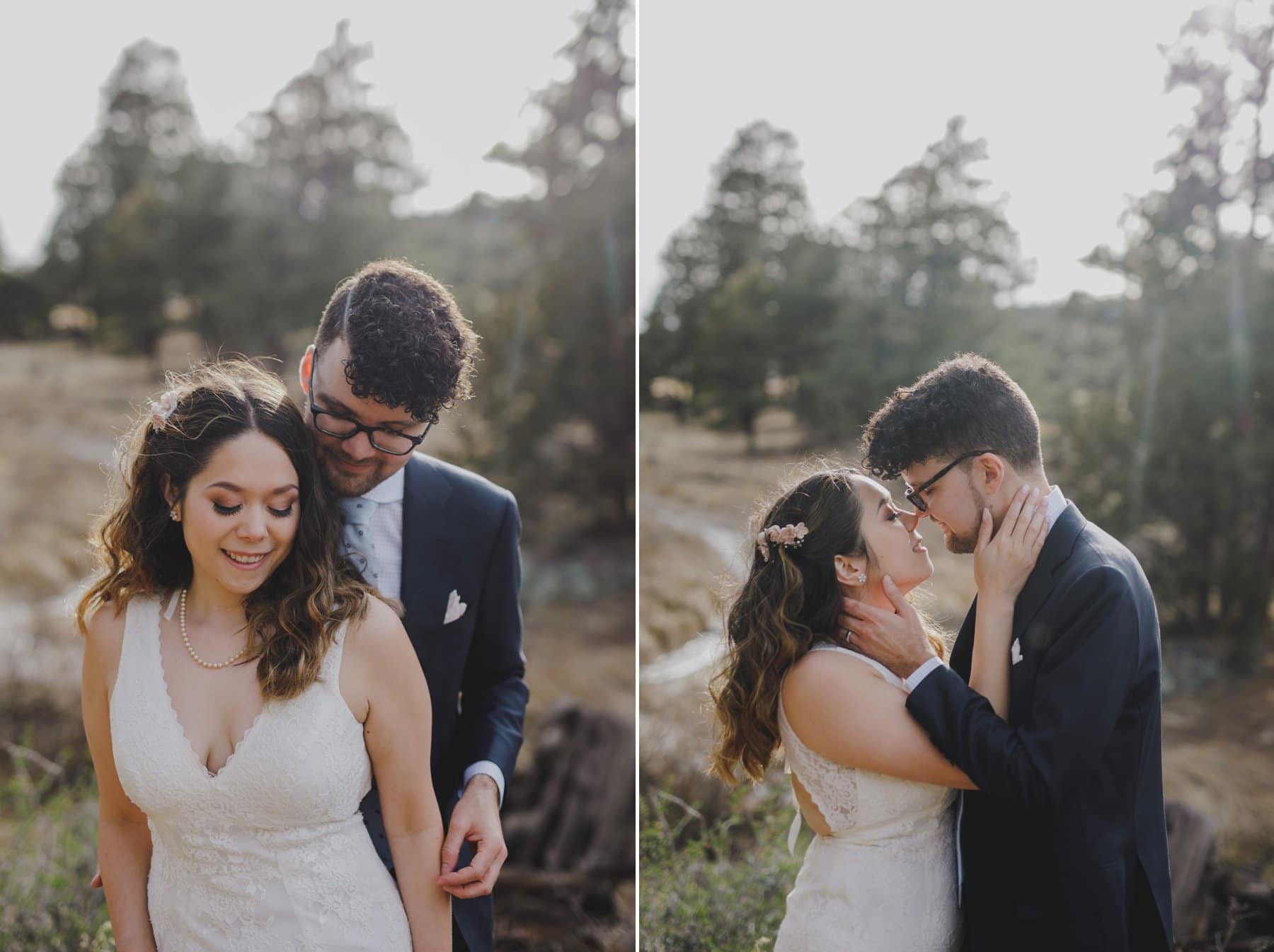 romantic sweet Flagstaff elopement photos