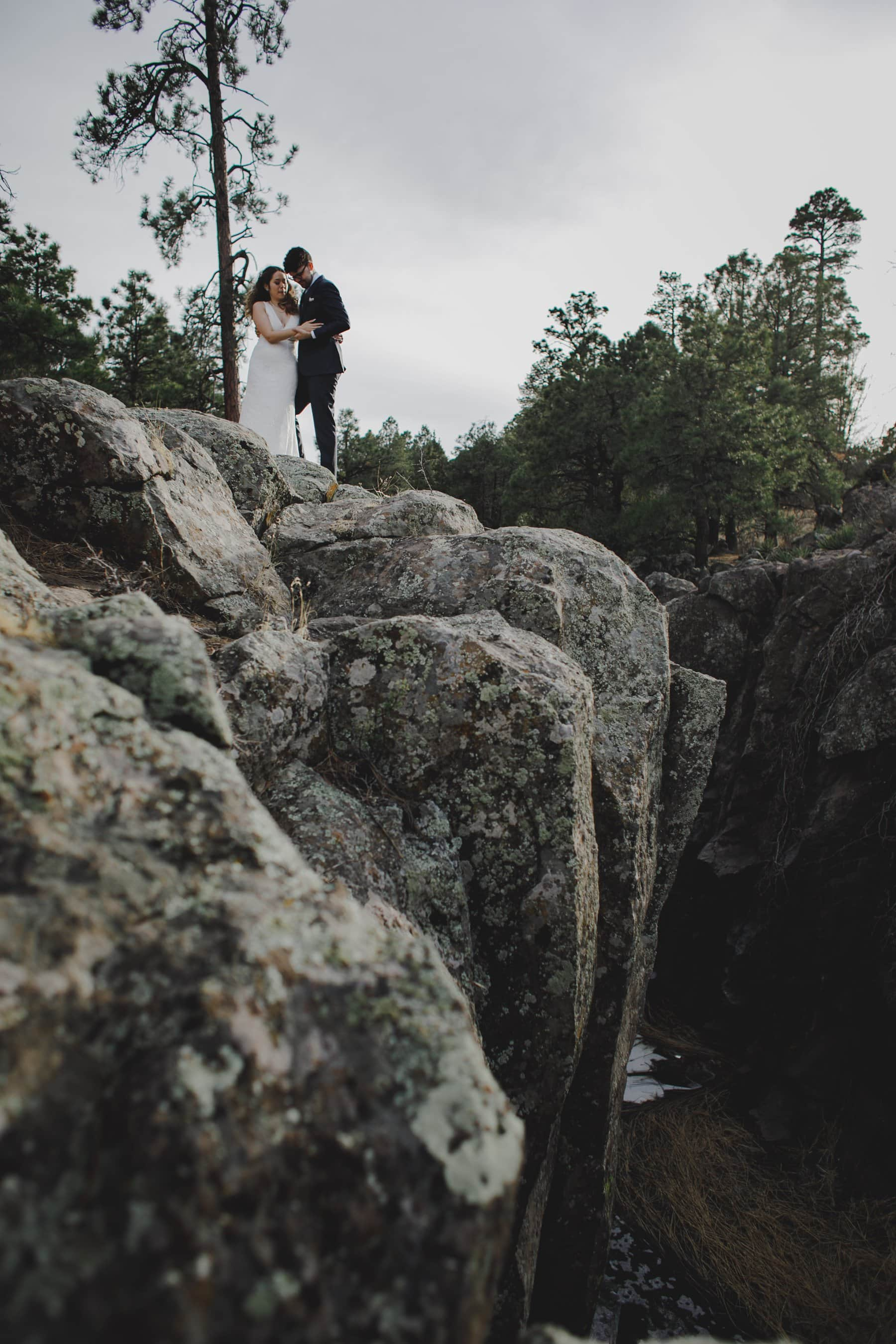 epic cliff Flagstaff elopement photos