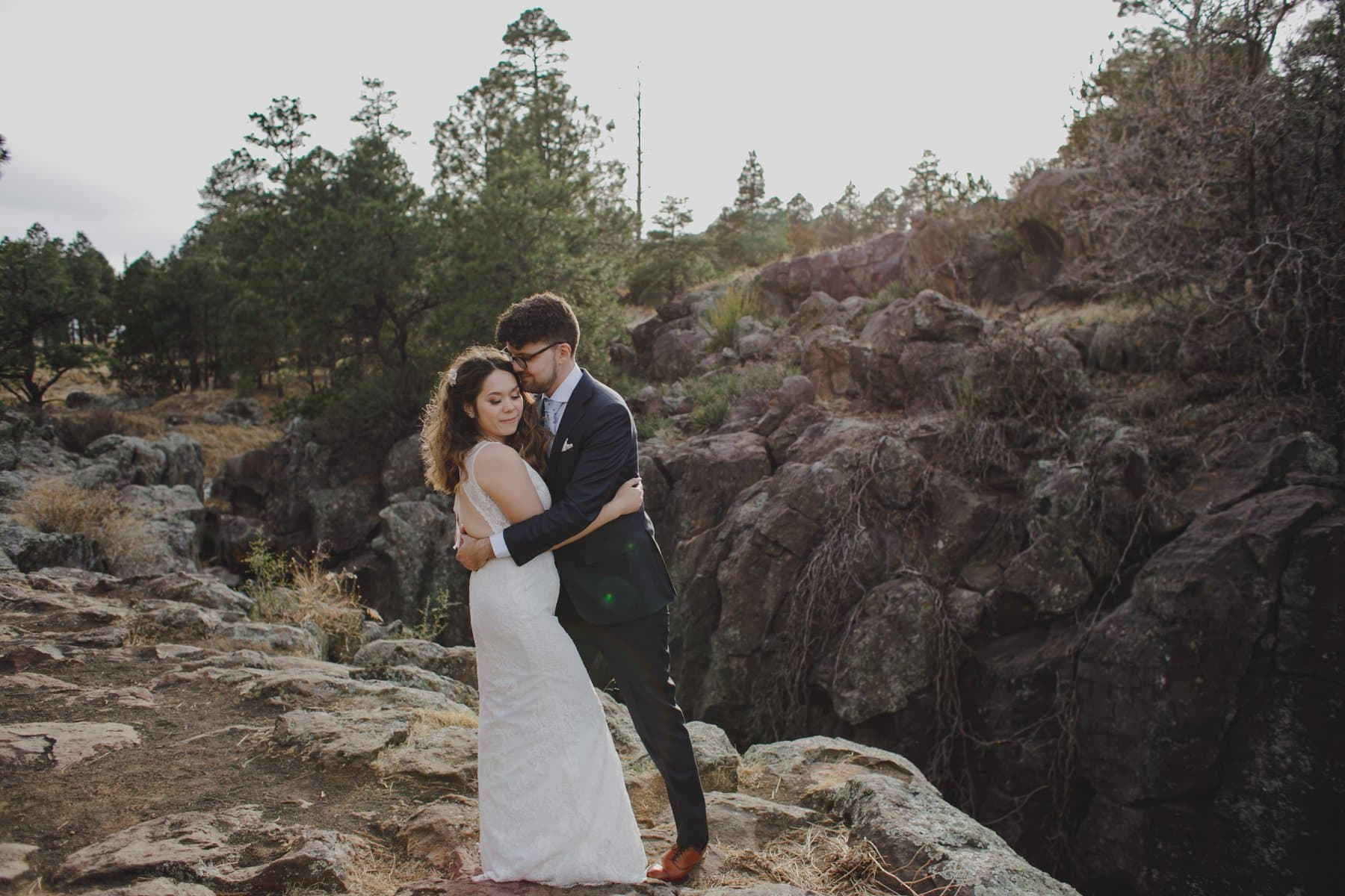 Flagstaff adventurous elopement