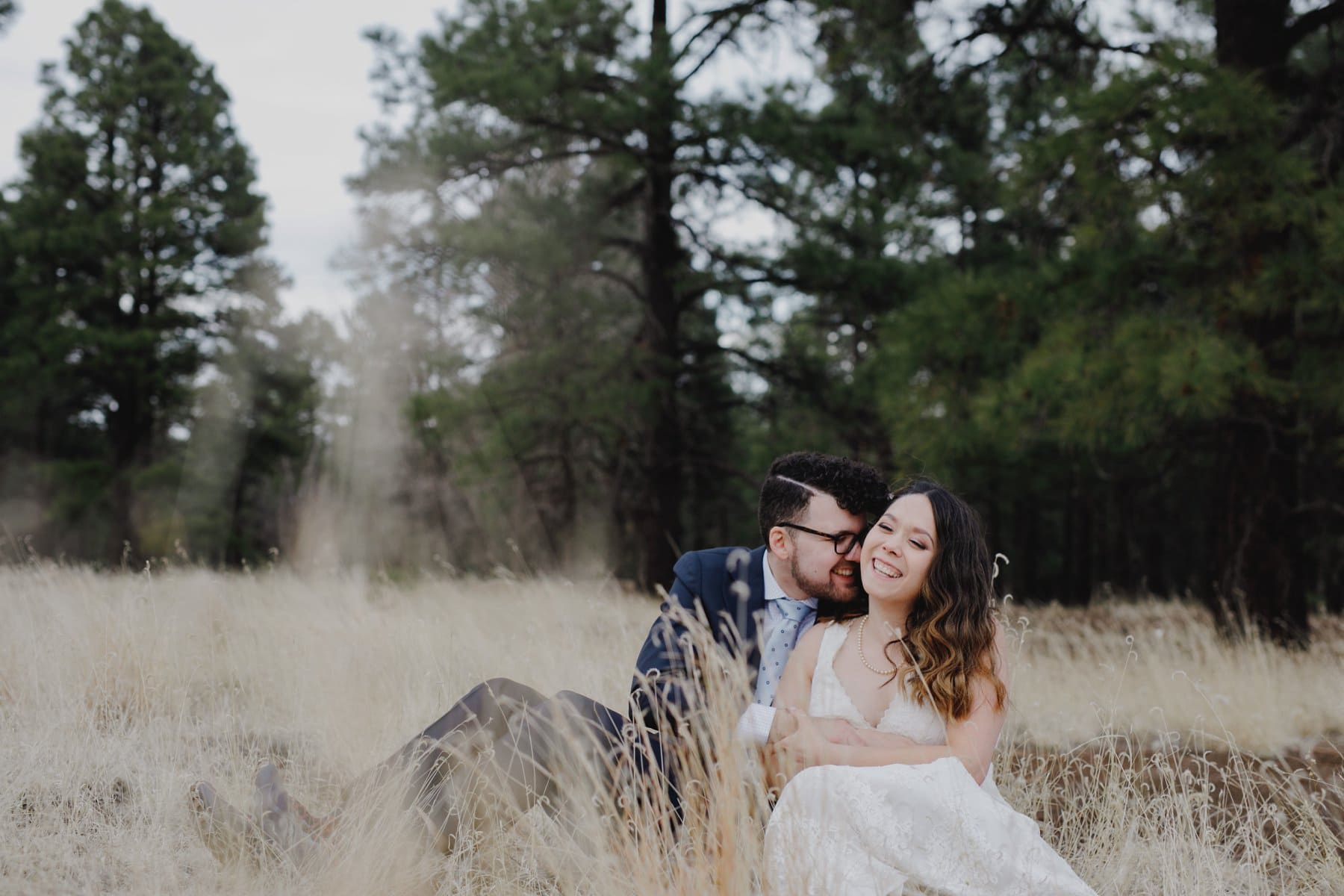 sweet emotional candid elopement photos Flagstaff