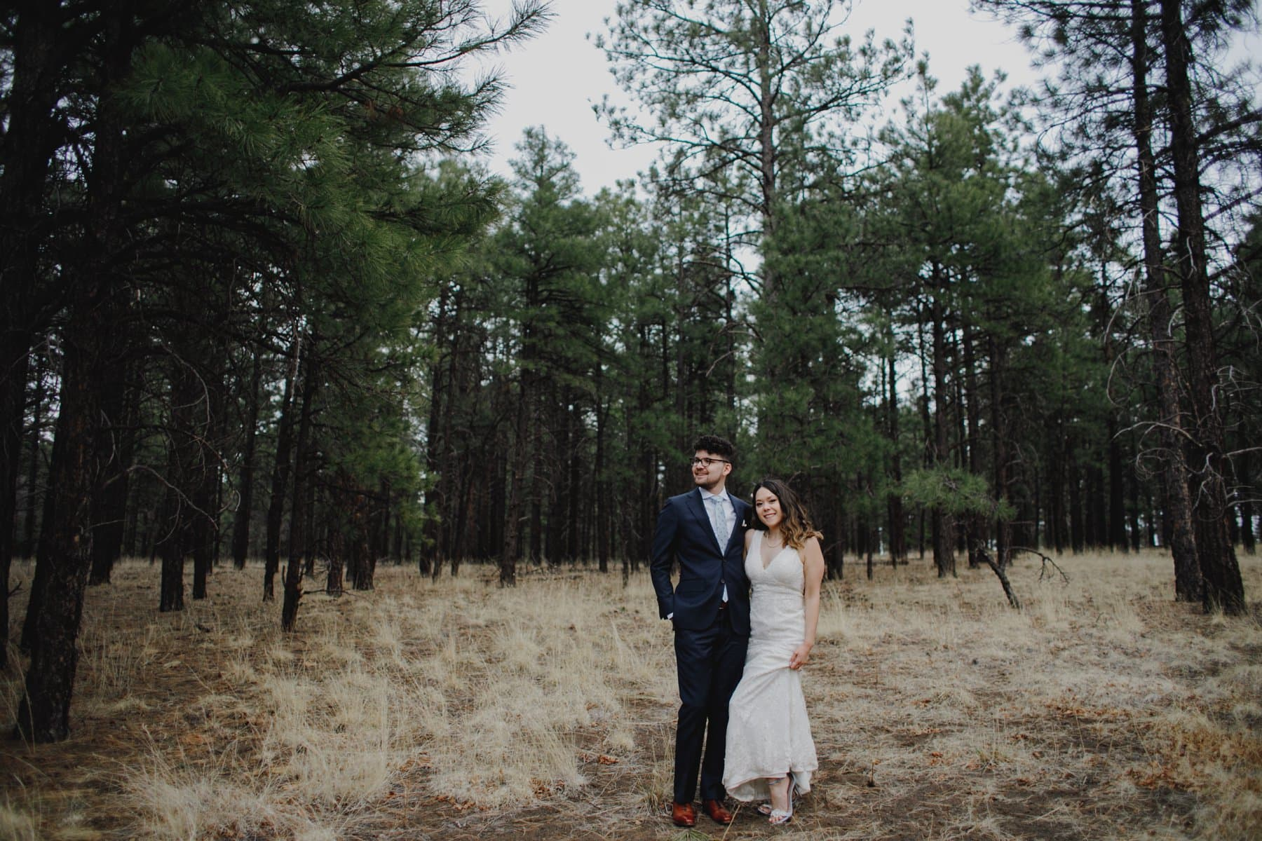 epic forest Flagstaff elopement