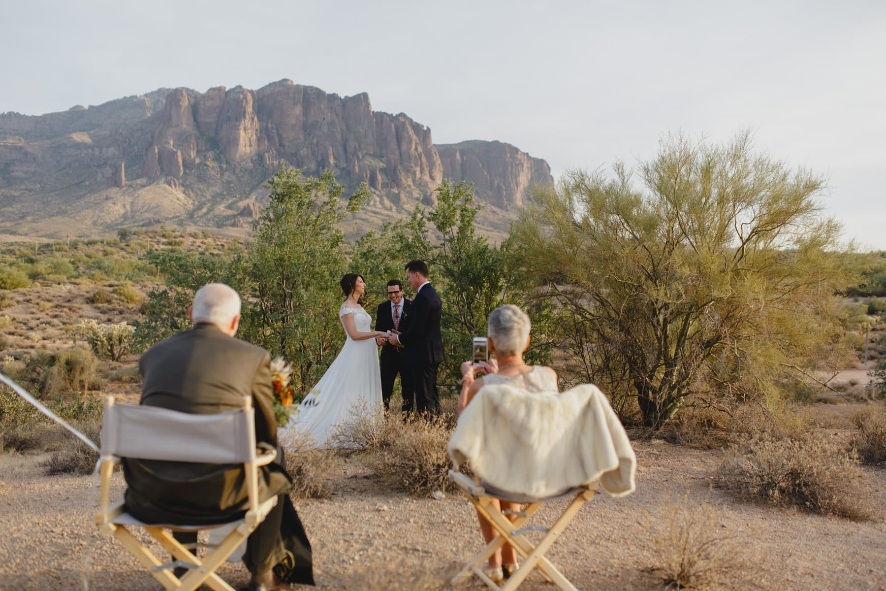 simple outdoor elopement Superstition Mountains Arizona